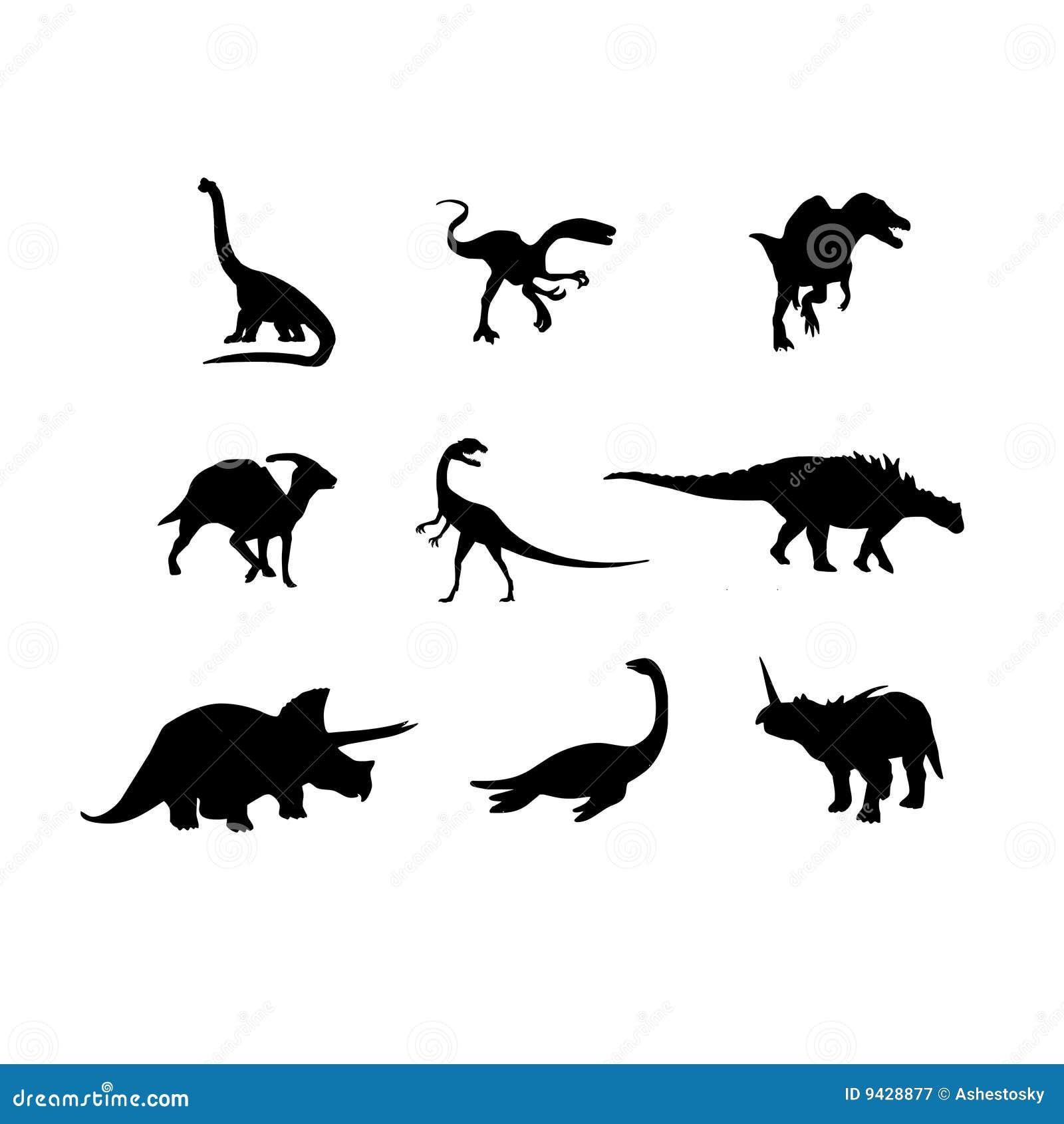 Dinosauriervektorschattenbild