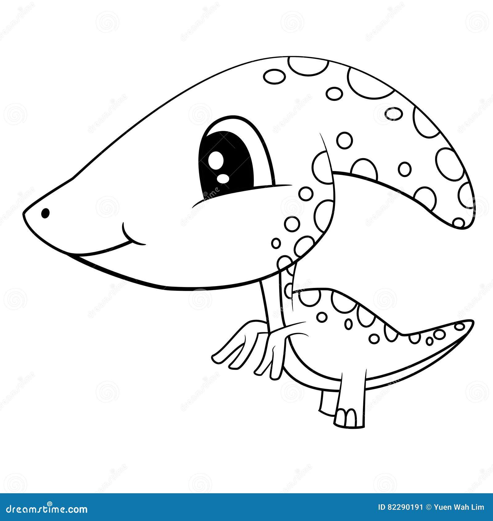 Asombroso Lindo Bebé Dinosaurio Páginas Para Colorear Para Niños ...