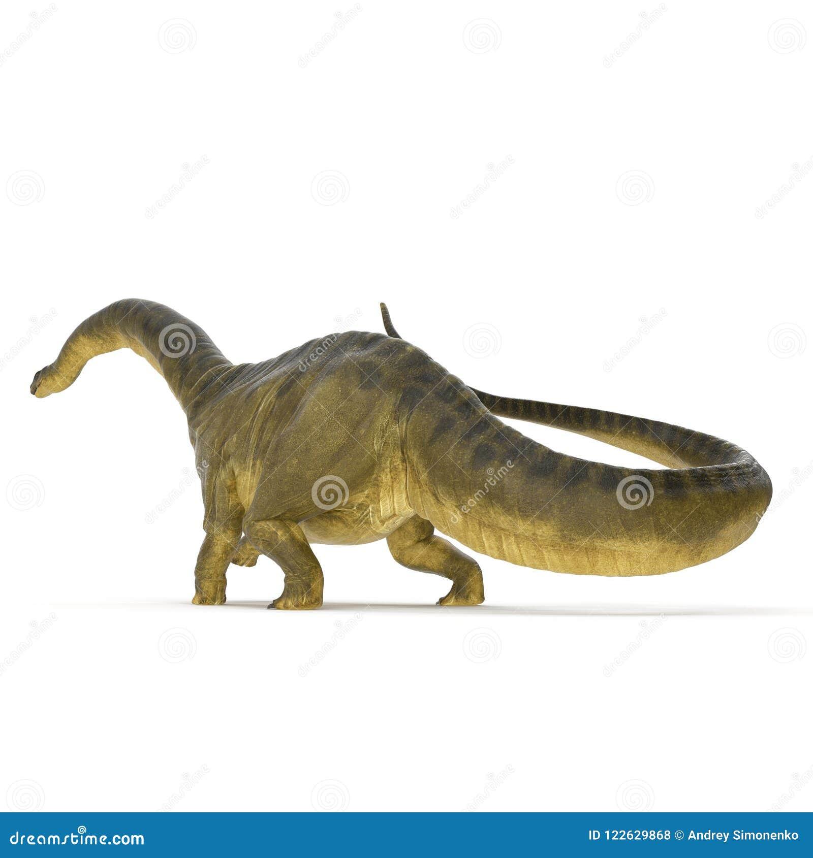 Dinosaurio del Apatosaurus en blanco ilustración 3D