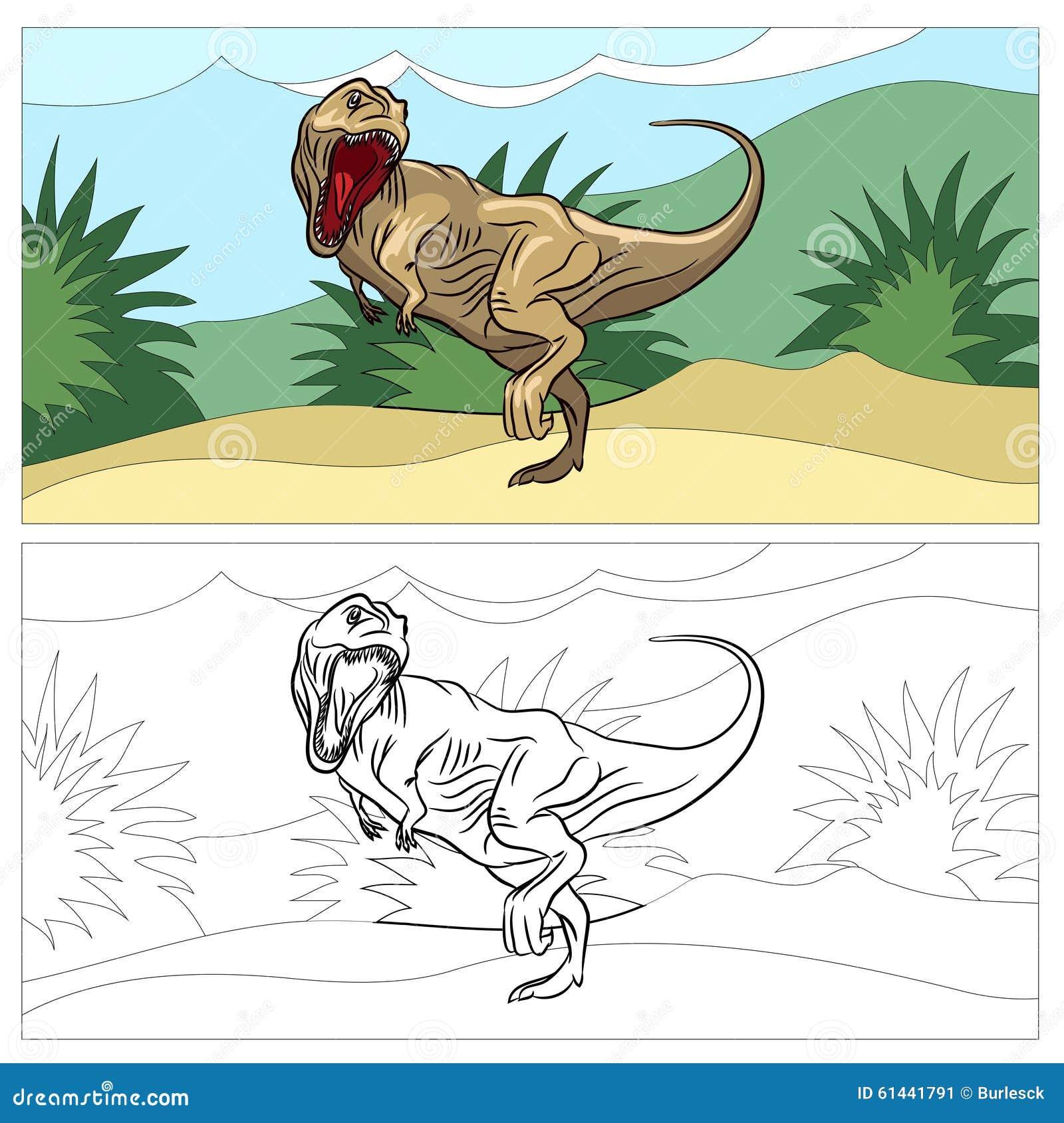 Dinosaurio Para El Libro De Colorear Ilustración del Vector ...