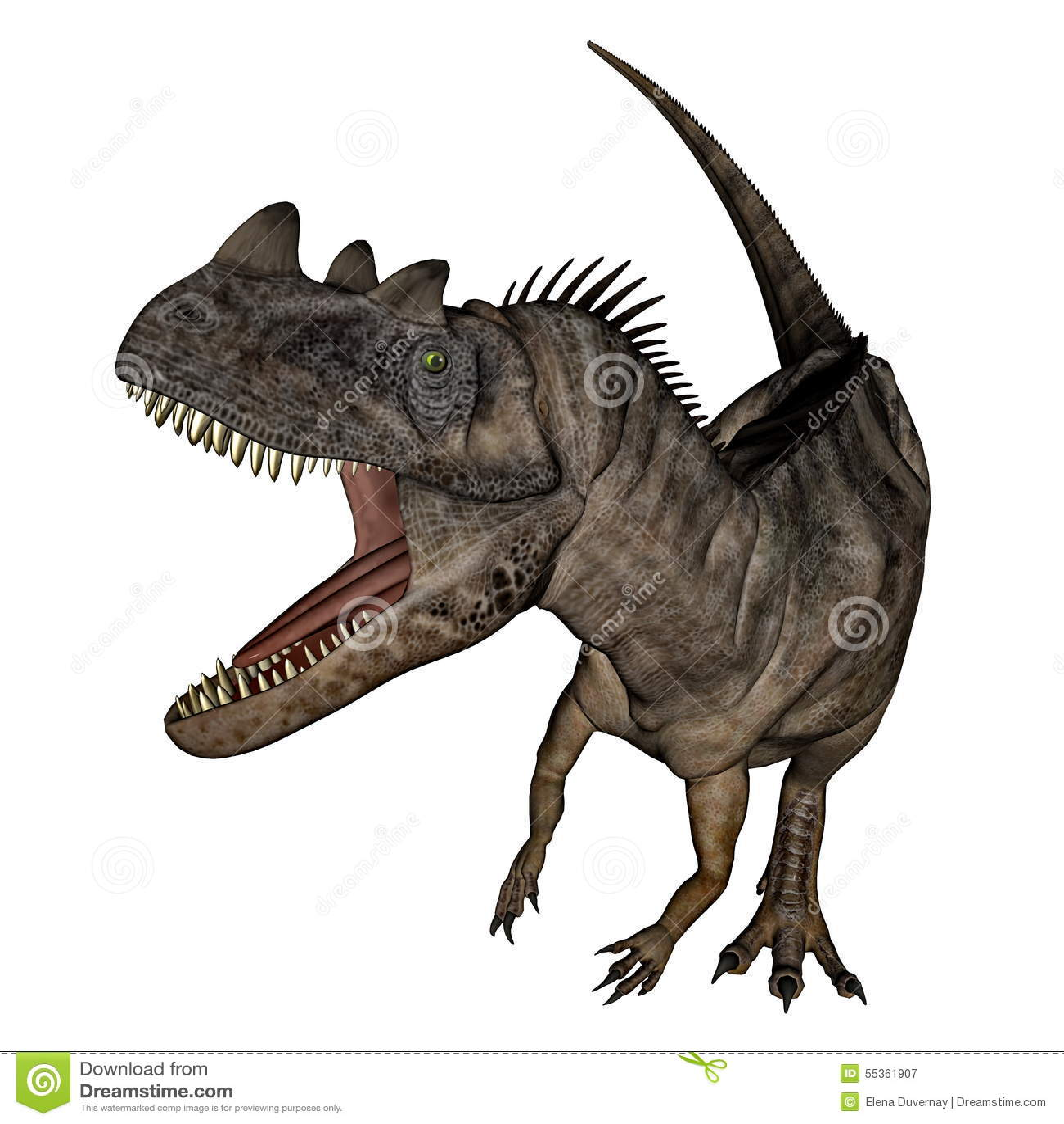 Dinosauro del Ceratosaurus - 3D rendono