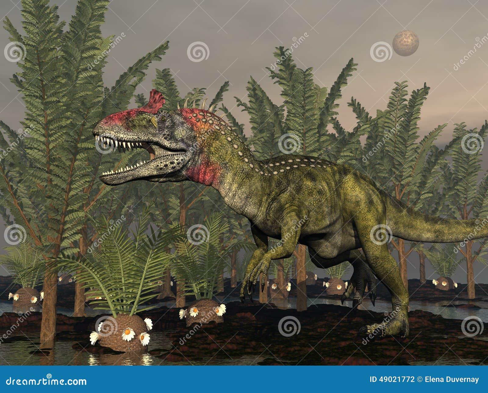 Dinosauro del Cryolophosaurus - 3d rendono