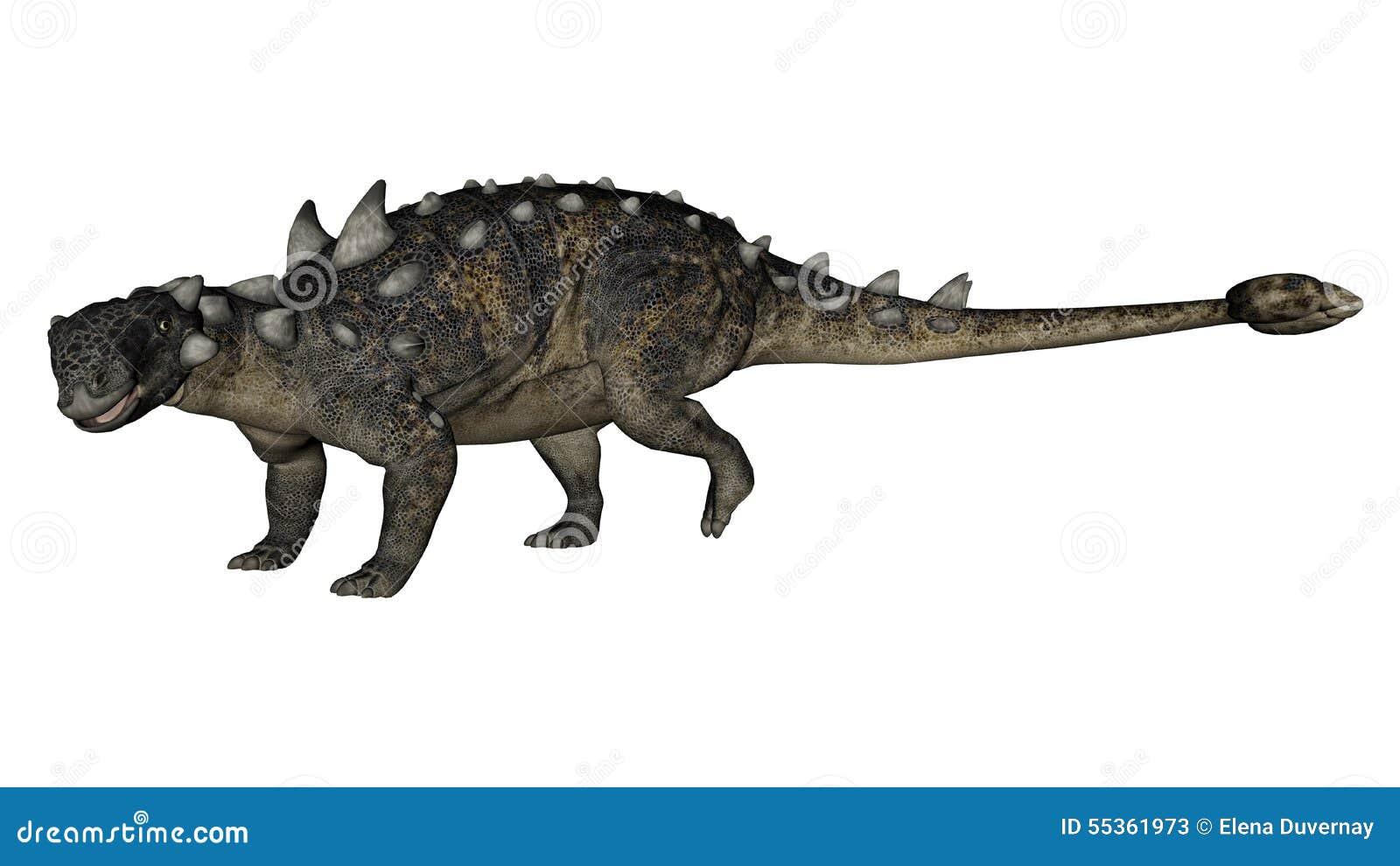 Dinosauro di Euoplocephalus - 3D rendono