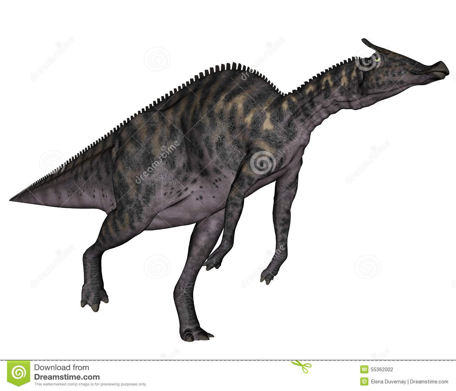 Dinosauro di Saurolophus - 3D rendono