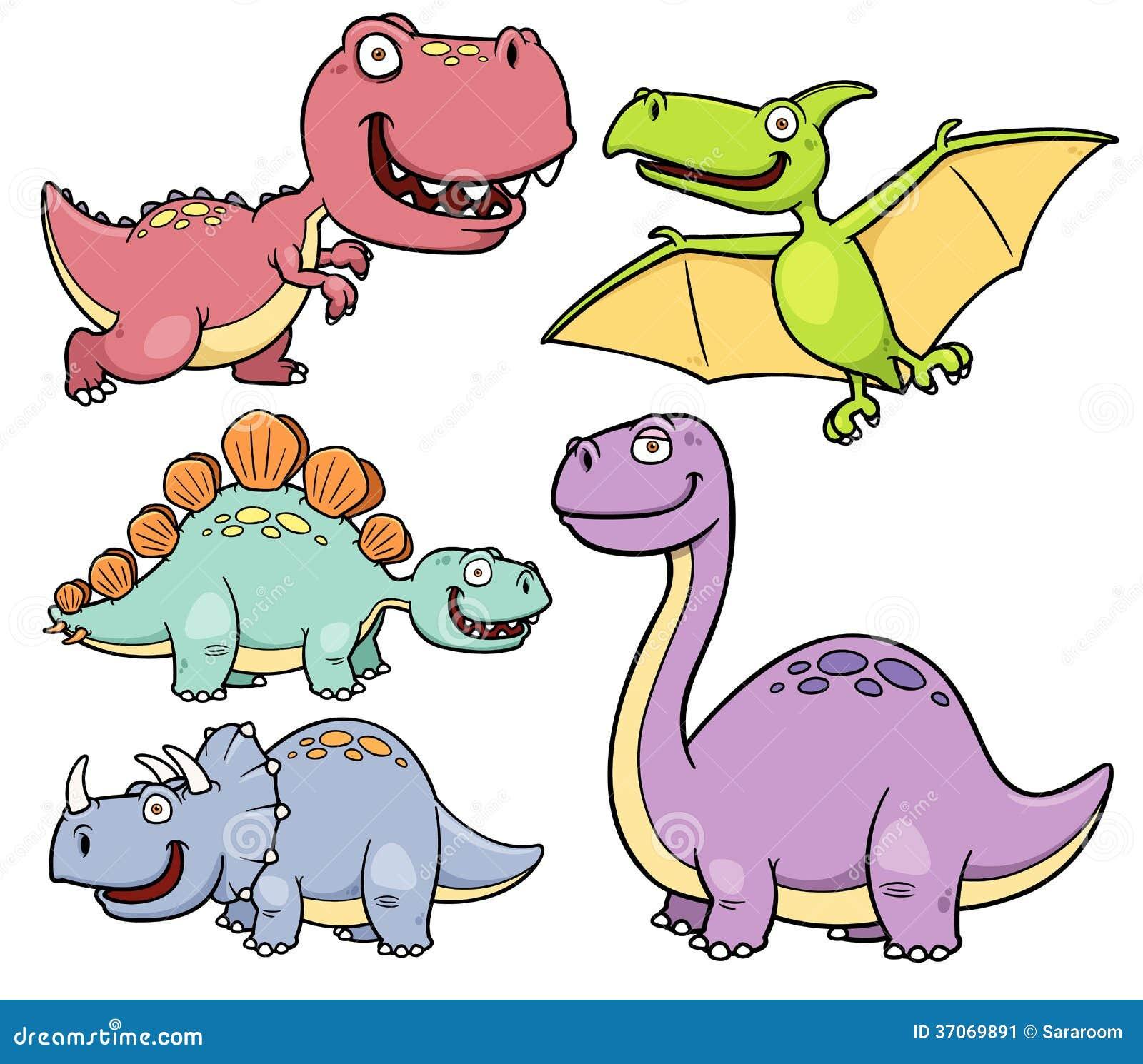 Dinosaurs Cartoon Stock Vector Illustration Of Cute
