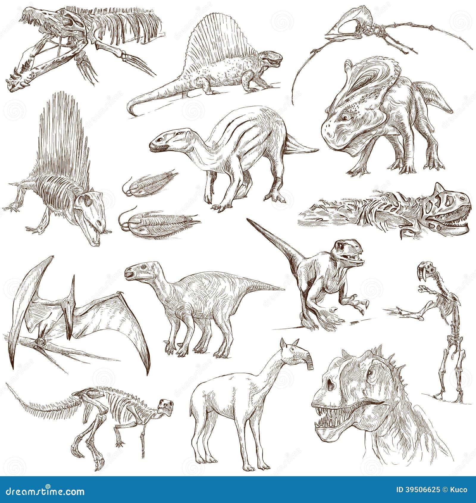 Dinosaurs Stock Illustration Image 39506625