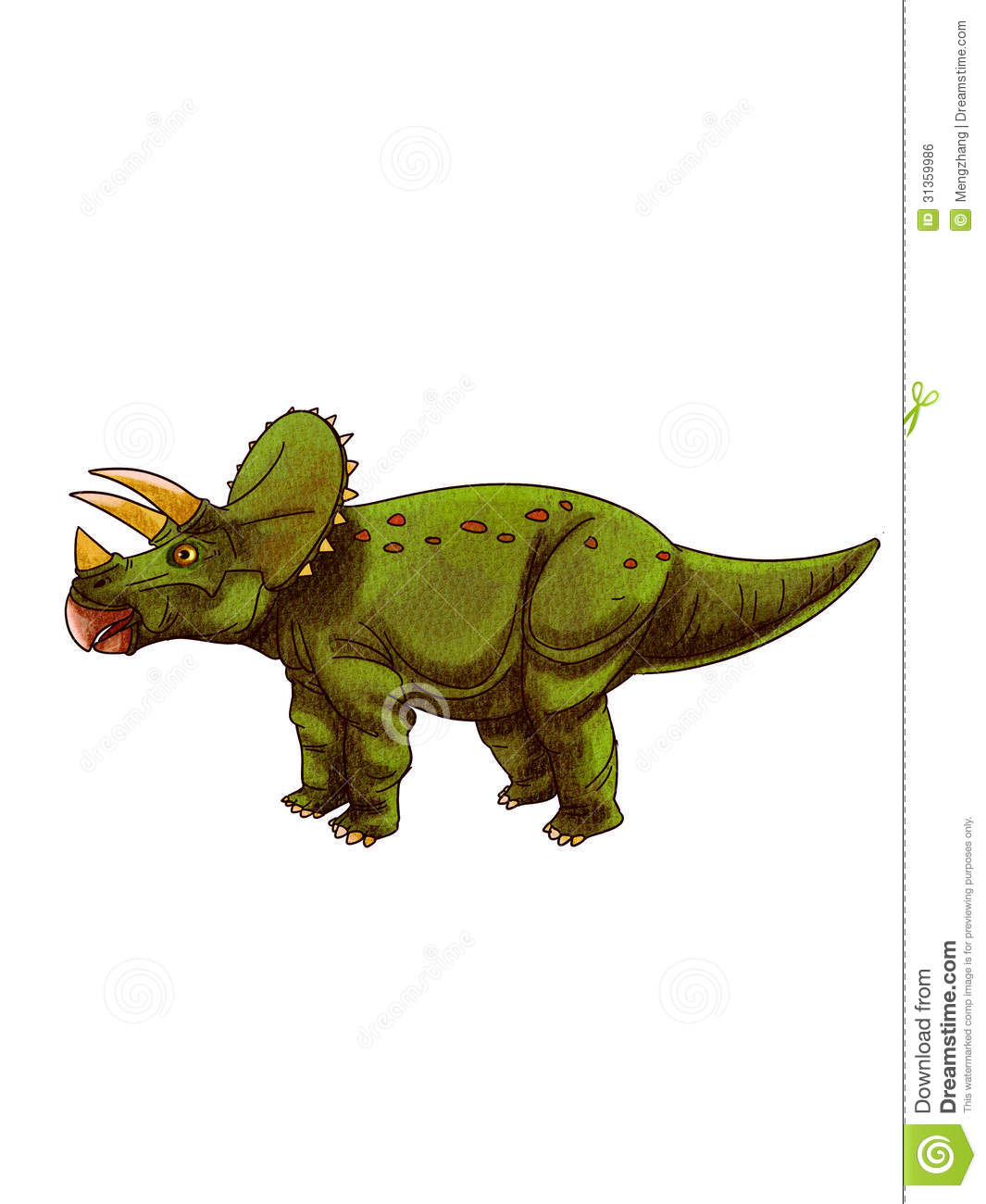Dinosaurs:triceratops Royalty Free Stock Image - Image: 31359986