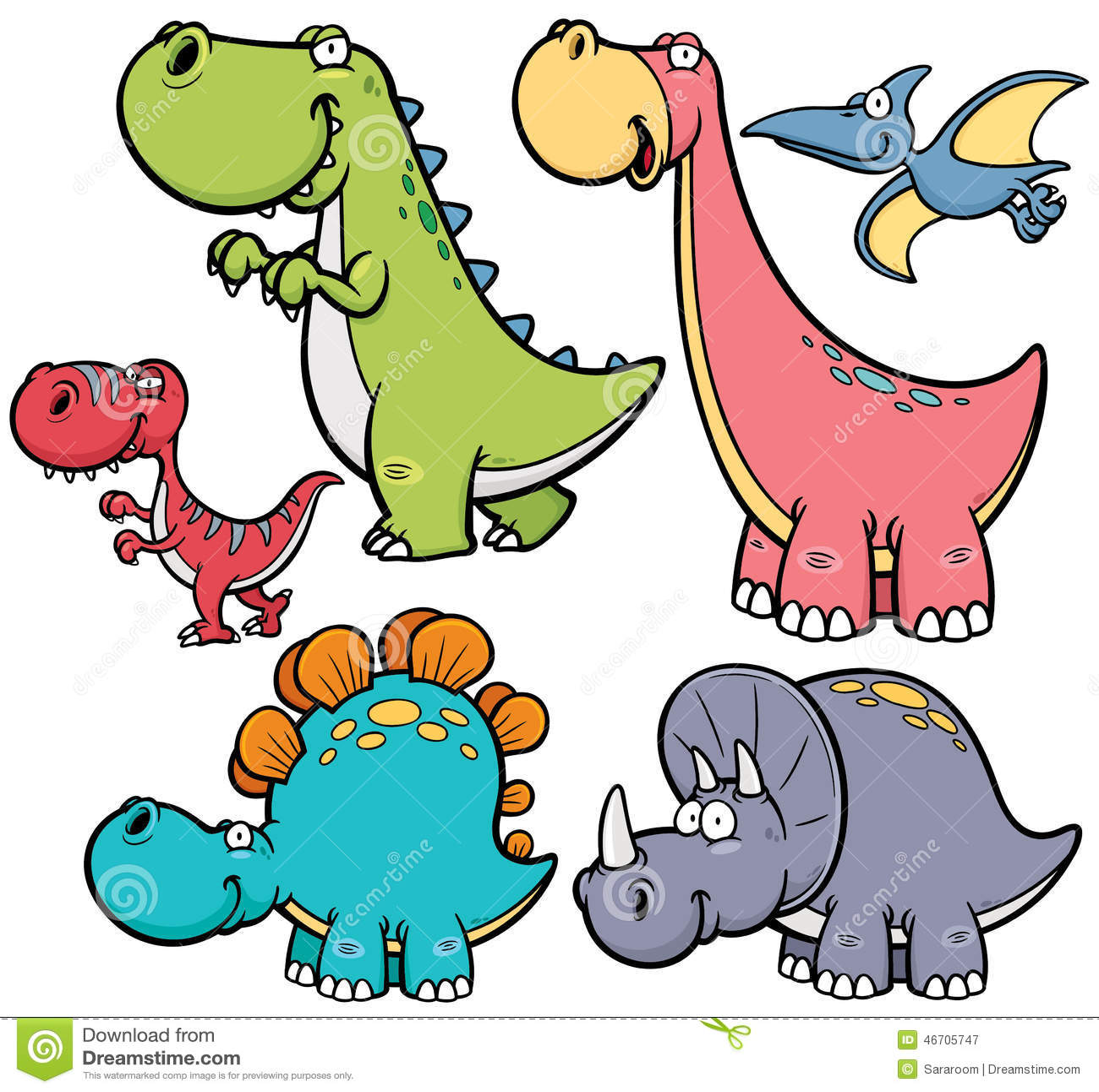 Dinosaurs Stock Vector