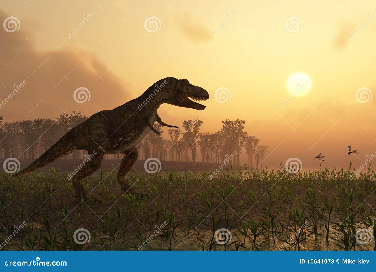 Dinossauro na paisagem
