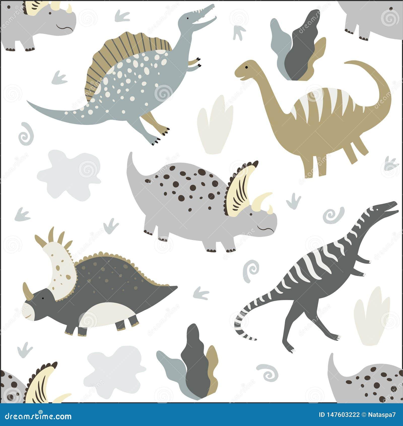 Dinossauros engra?ados Ca?oa o teste padr?o sem emenda