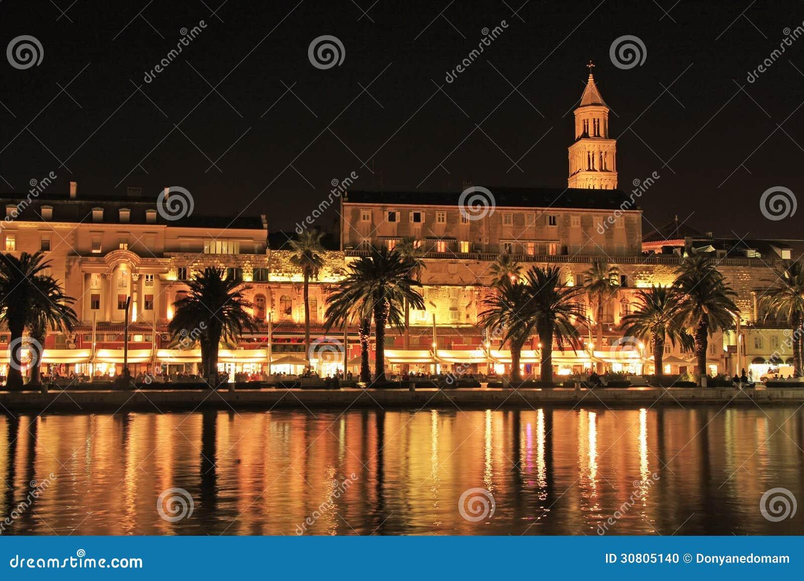 Diocletians Palast, aufgeteilte Ufergegend, Kroatien