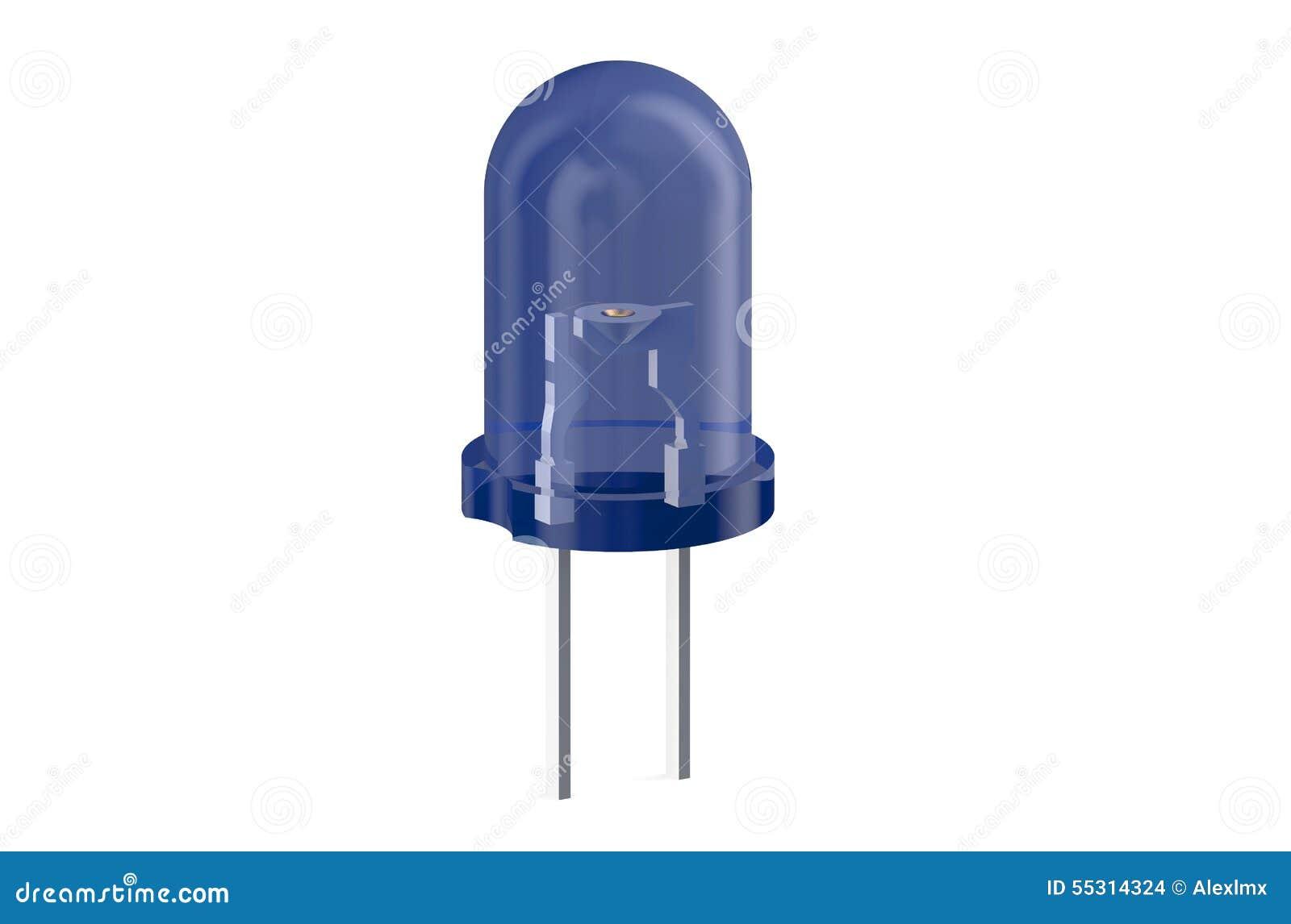 diode 233 lectroluminescente bleue de led illustration stock image 55314324