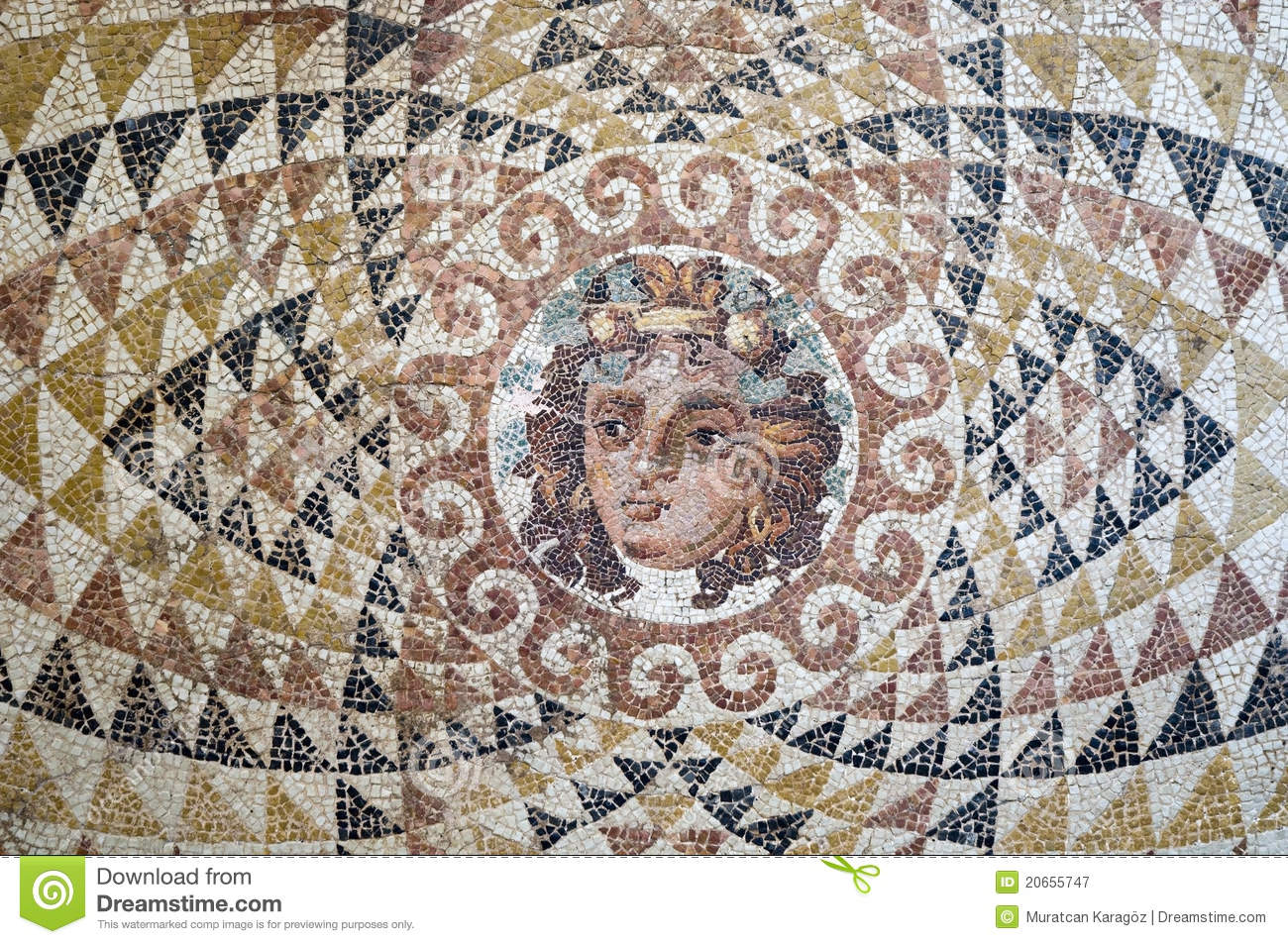 Dionysus Mosaic Stock Image Image Of Floor Historical