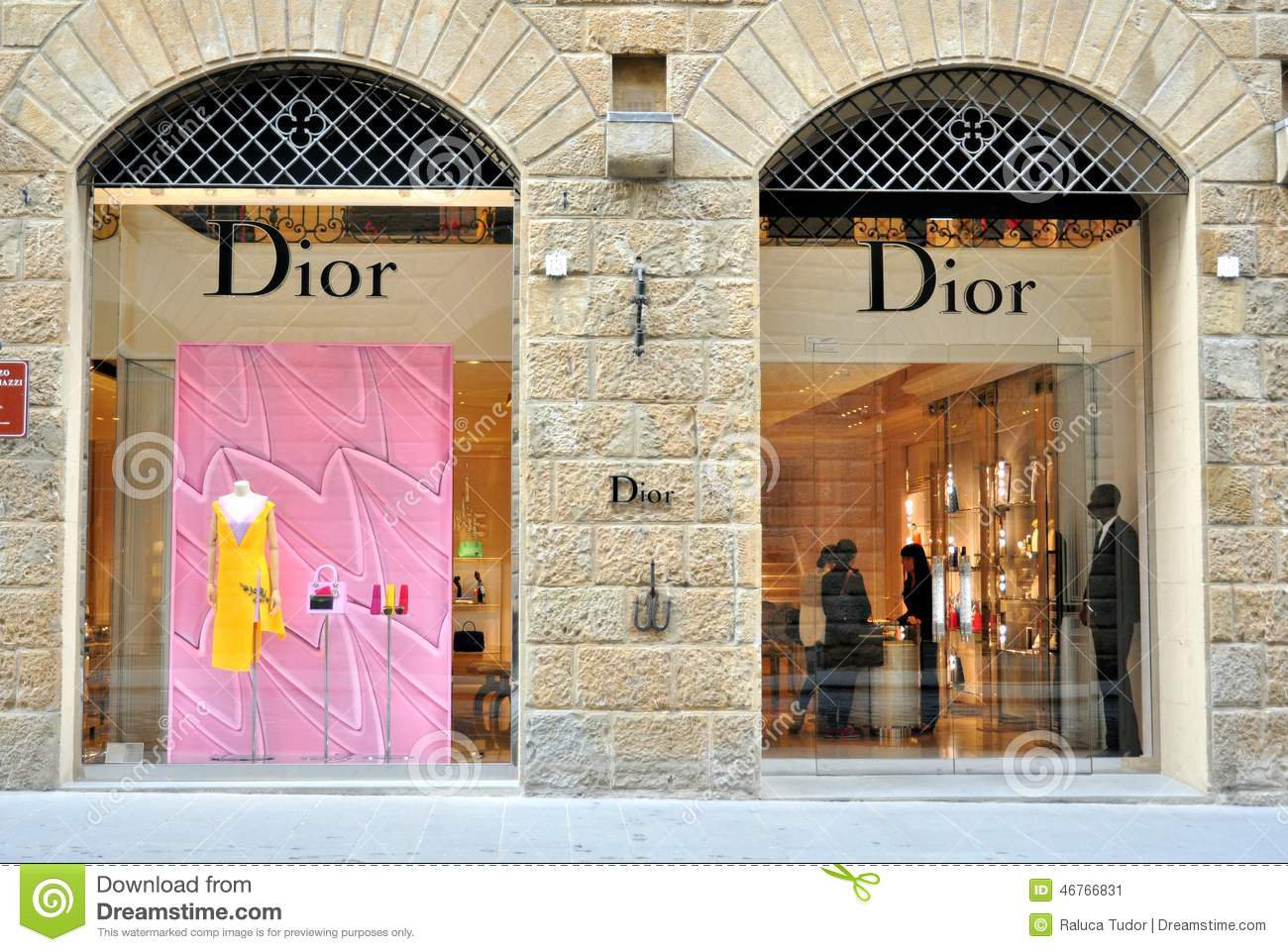 dior fashion store in florence italy editorial photo