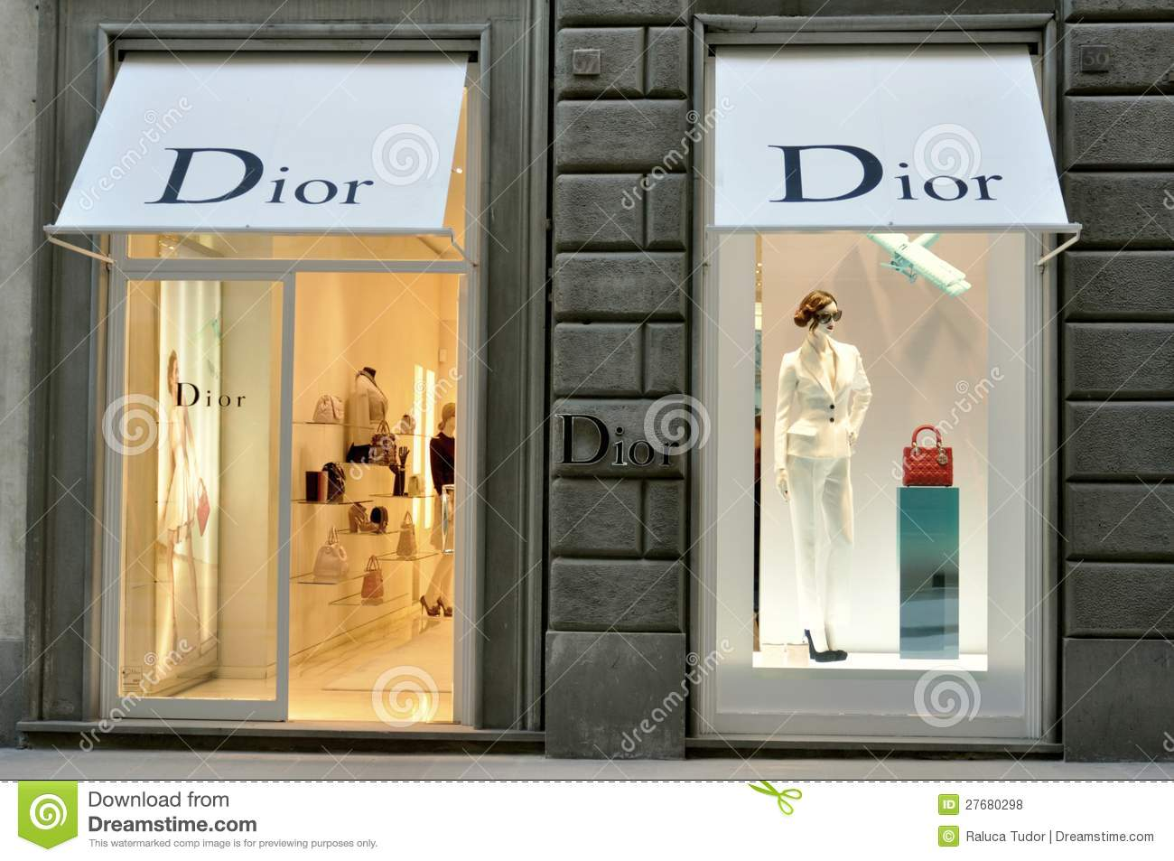 dior fashion store in italy editorial stock photo image