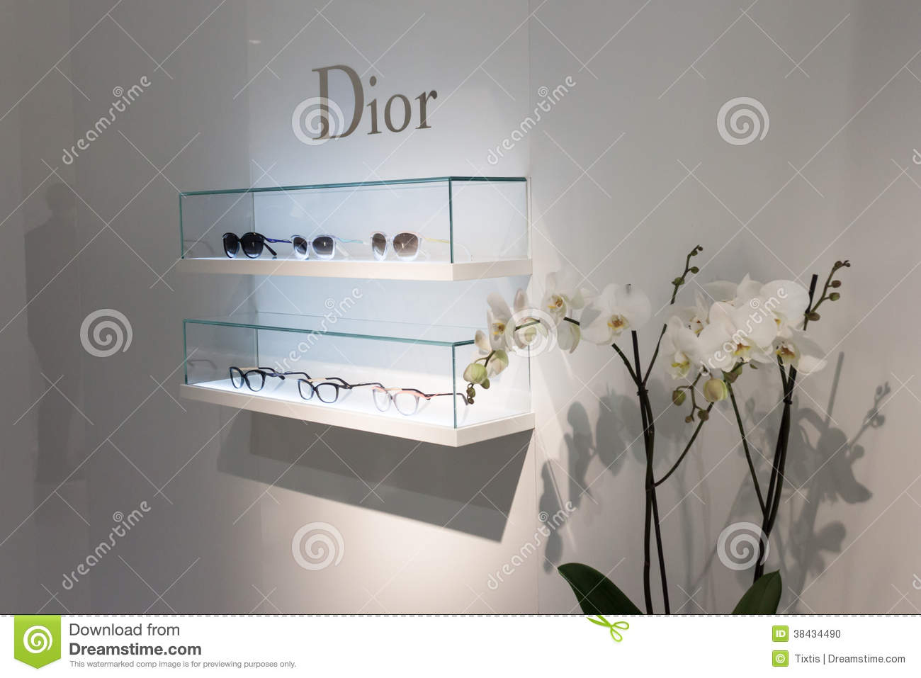 Exhibition Booth Frame : Dior glasses on display at mido in milan italy