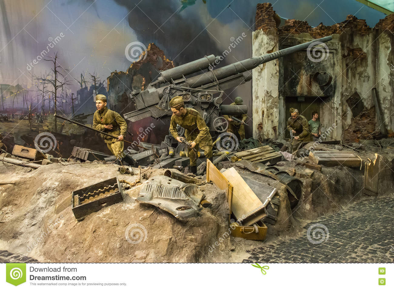 Diorama Storming Reichstag