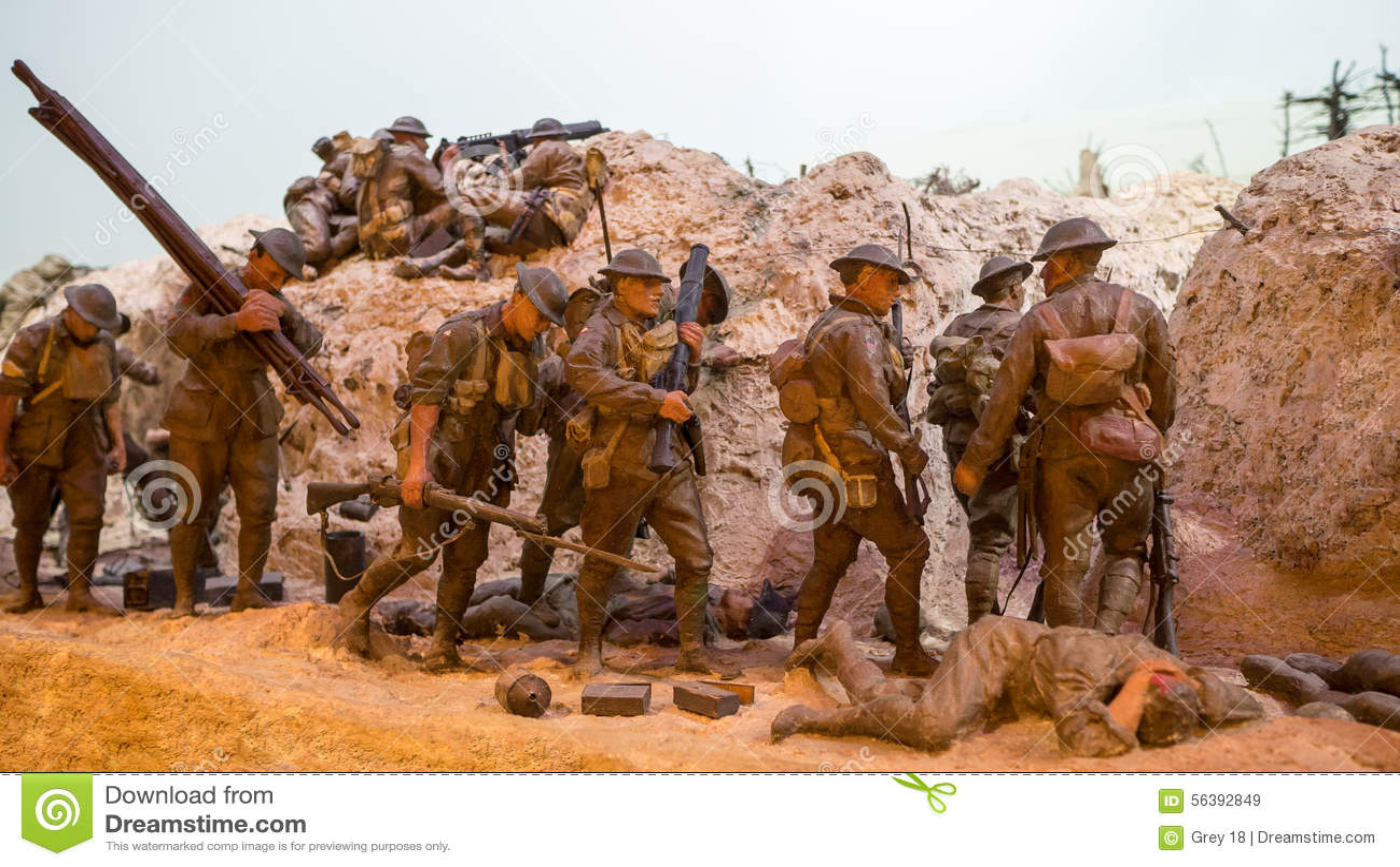 Diorama tôt de guerre mondiale