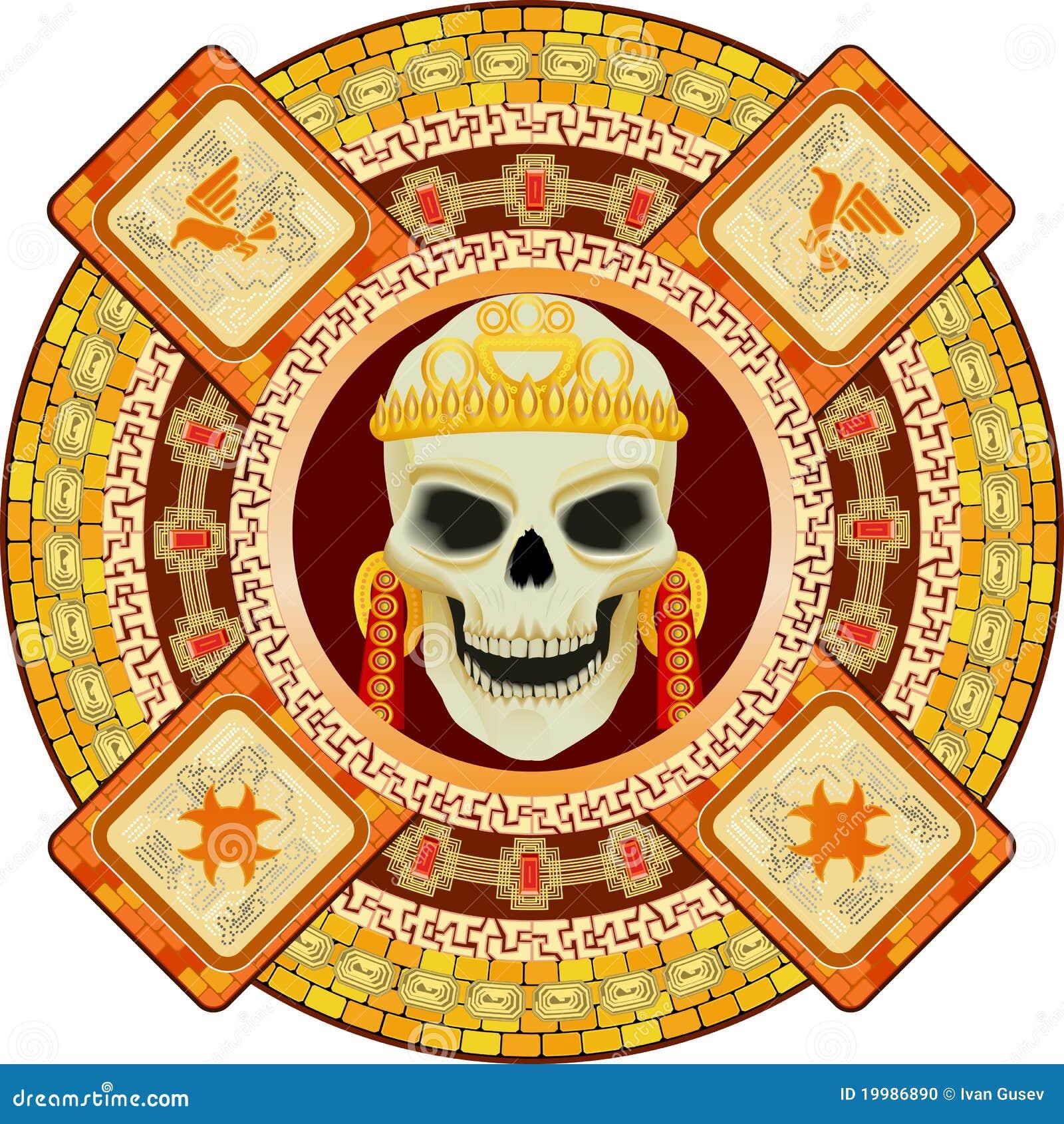 Dios De La Muerte De Aztecas Ilustración Del Vector Ilustración De