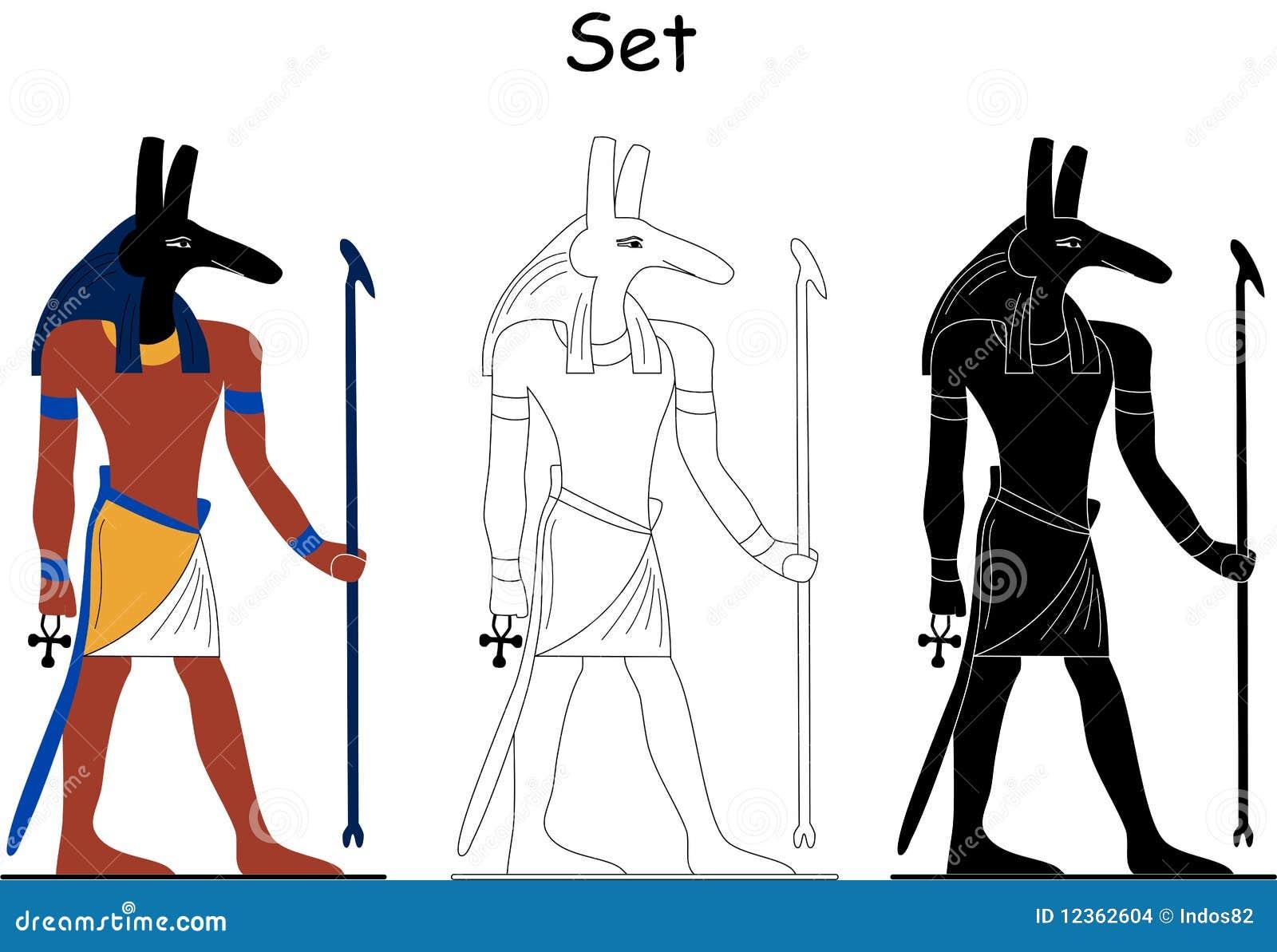 Dios egipcio antiguo - conjunto