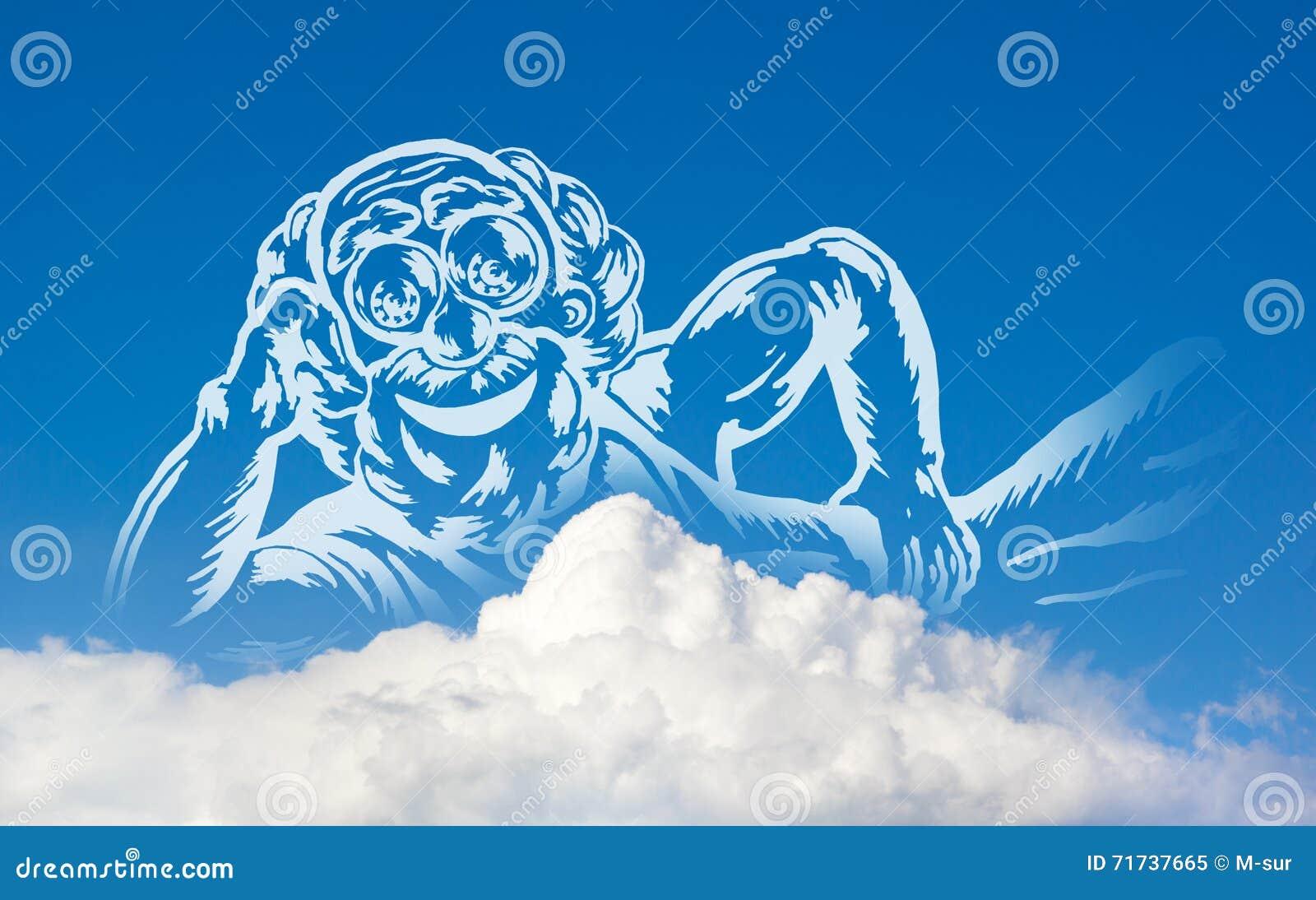 Dios en las nubes