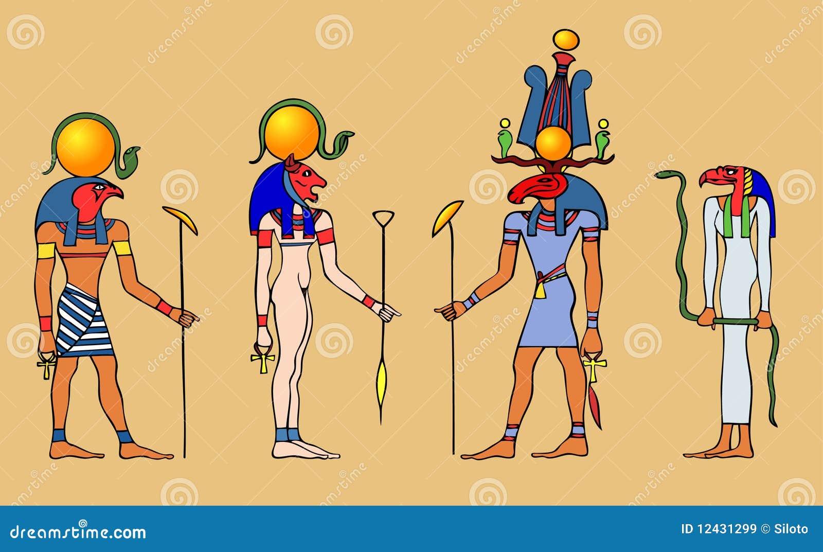 Dioses y diosa egipcios