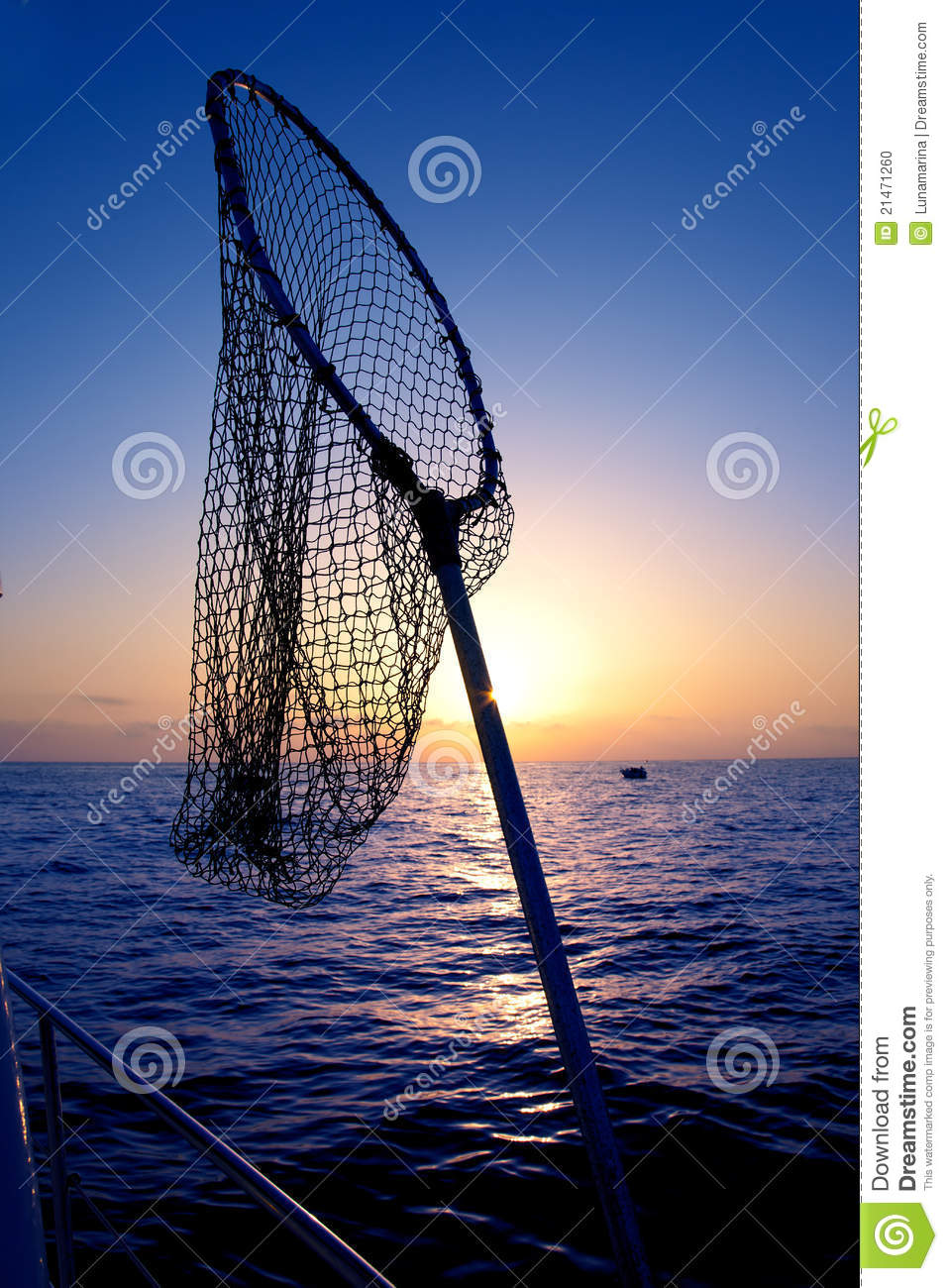 Dip net in boat fishing on sunrise saltwater stock photo for Dip nets for fishing