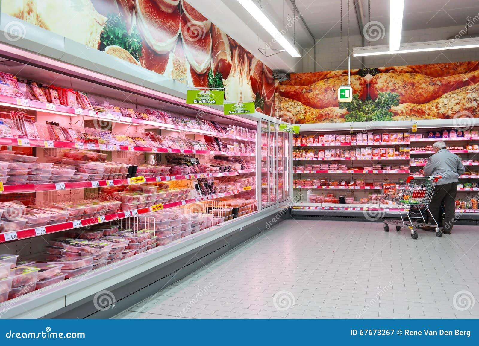 Dipartimento della macelleria del supermercato