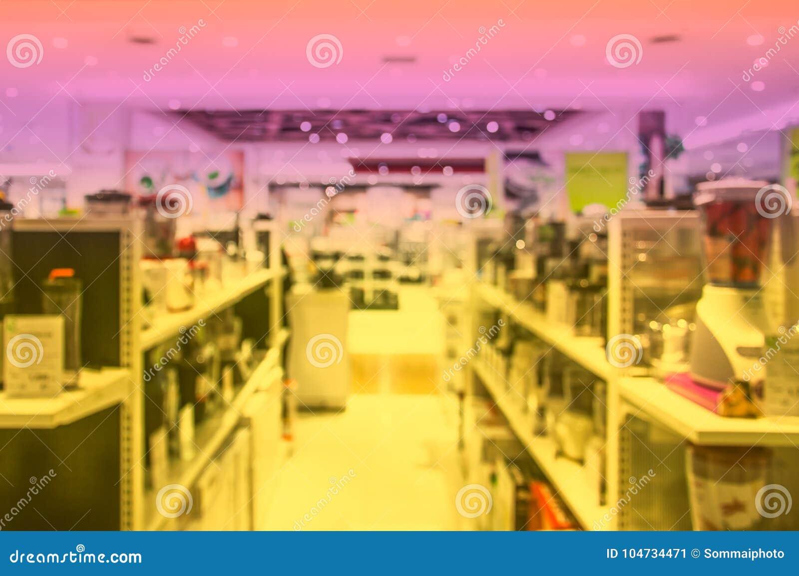 Dipartimento vago di elettronica nel centro commerciale