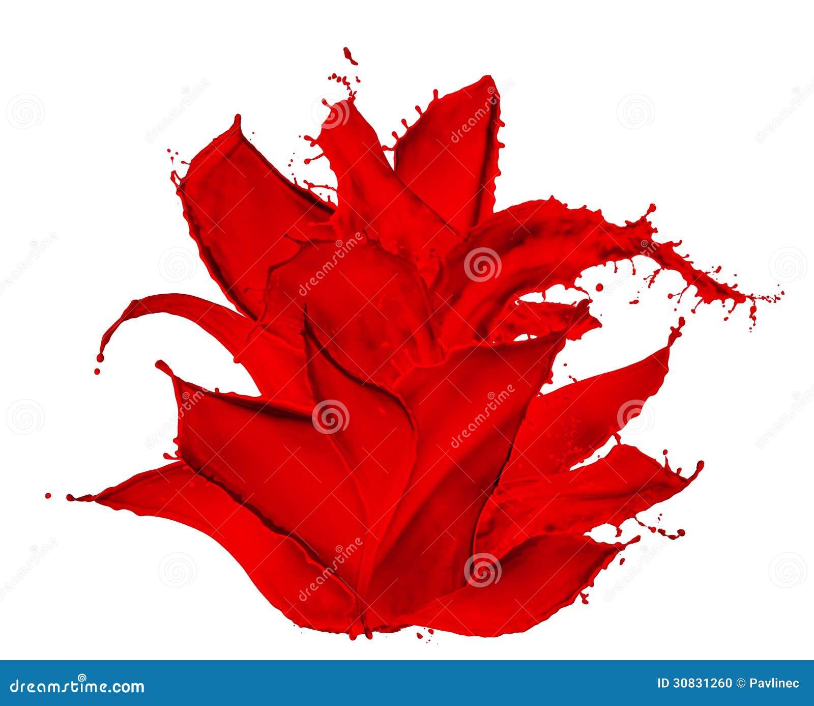 Dipinga il fiore della spruzzata