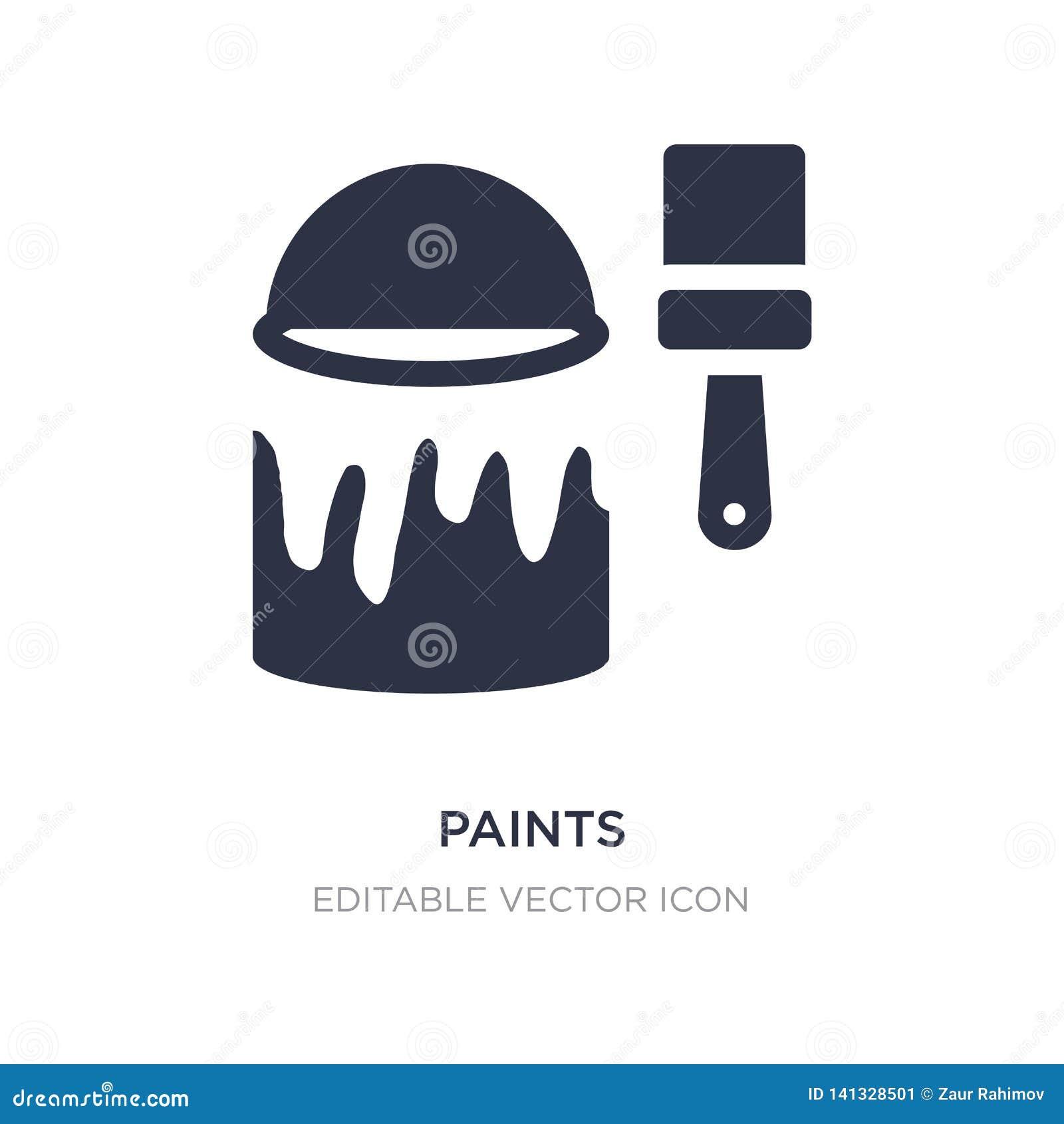 Dipinge l icona su fondo bianco Illustrazione semplice dell elemento dal concetto di arte