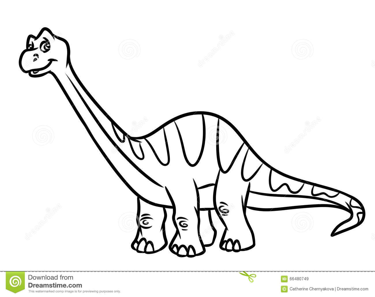 Diplodocus dinosaur jurassic period coloring pages stock for Diplodocus coloring page