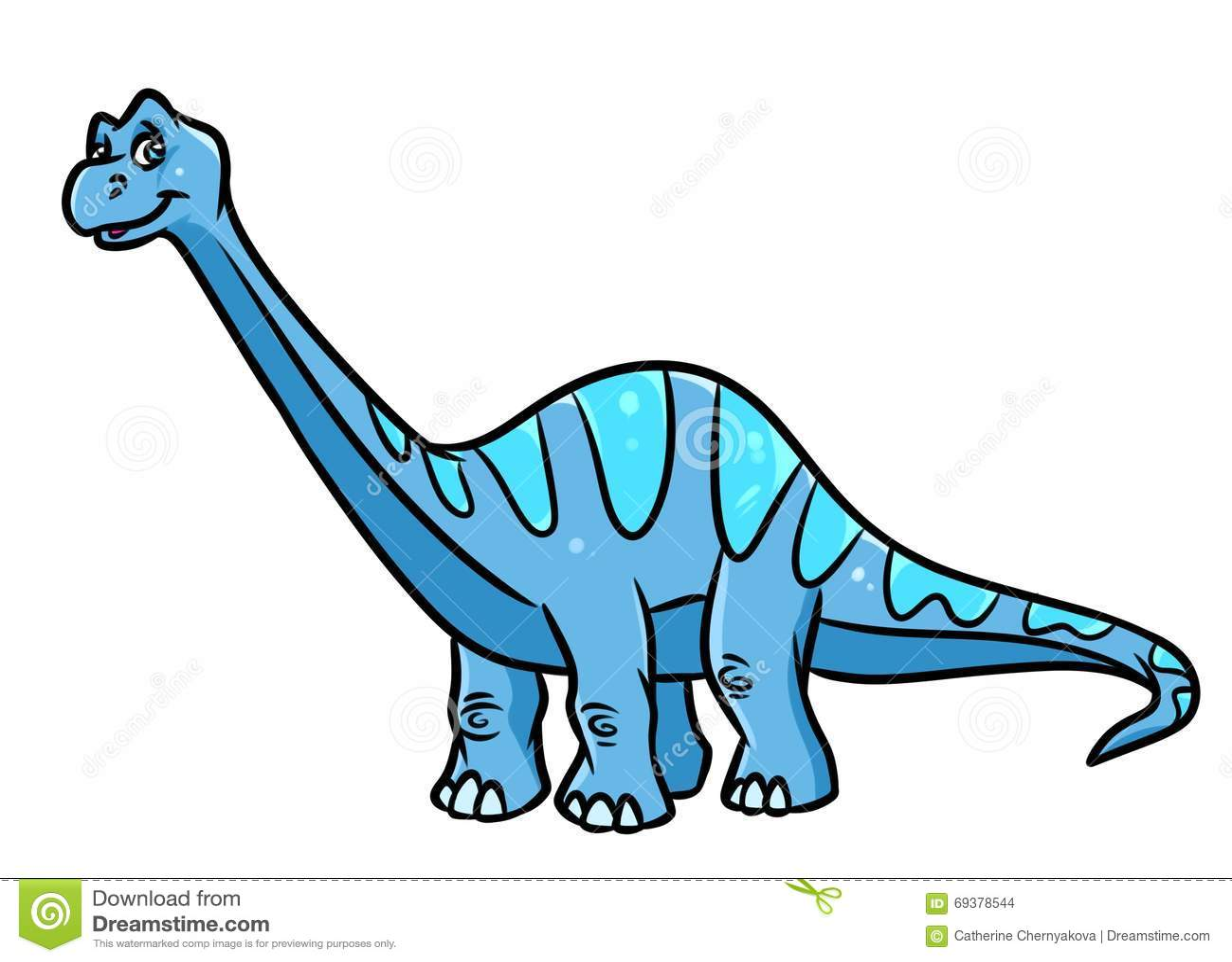 Diplodocus do dinossauro, ilustração herbívora dos desenhos animados