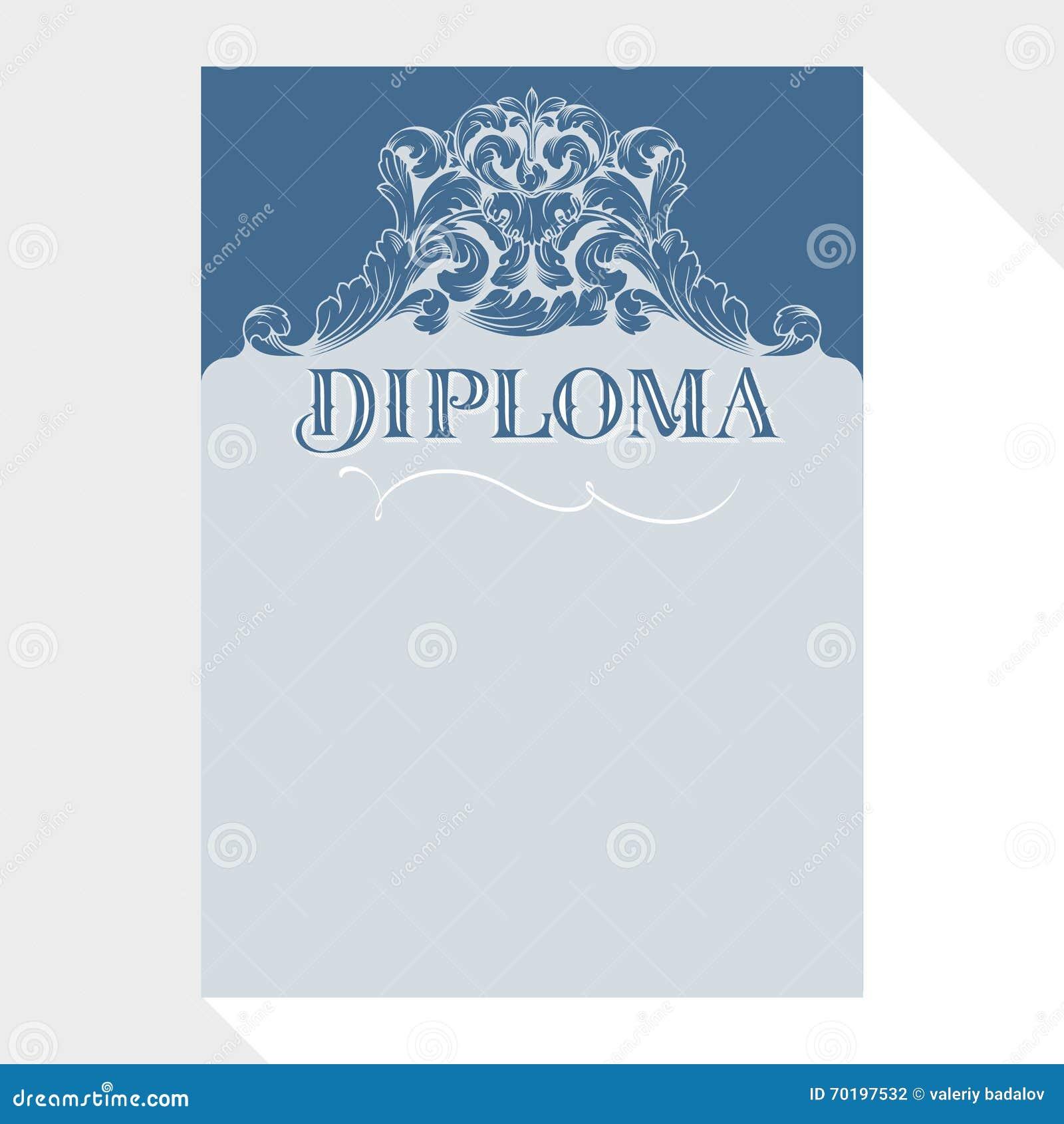Diplom- och certifikatdesignmall