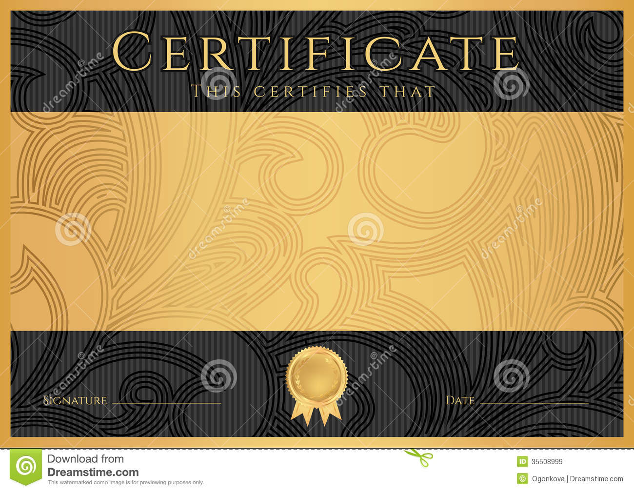 Royalty Free Stock Images: Diploma / Сertificate award template ...