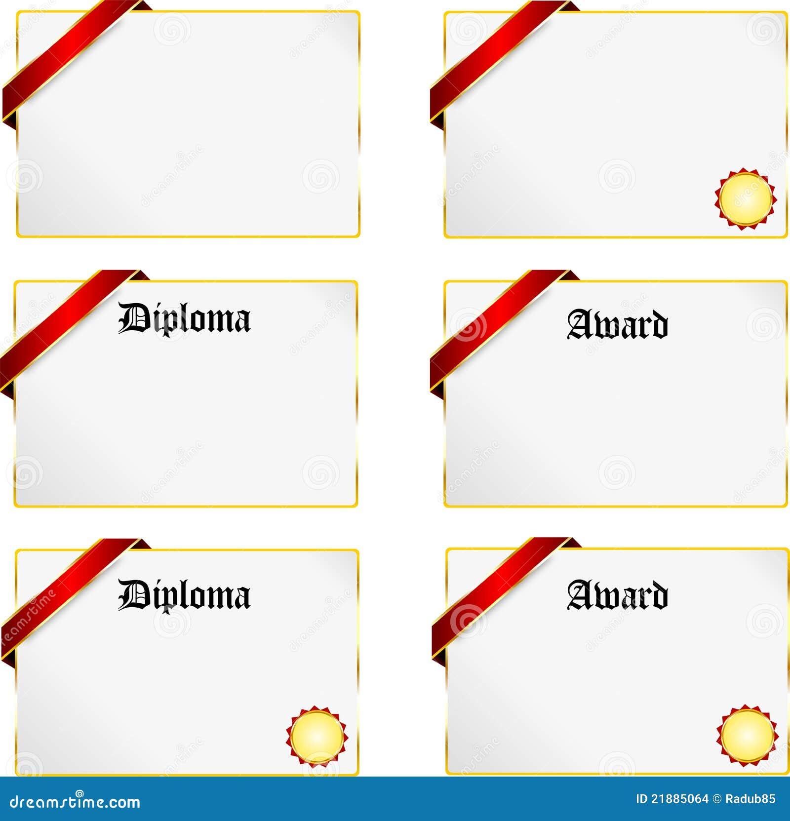 Diploma stock afbeeldingen afbeelding 21885064 - Geloofsbrieven ontwerp ...