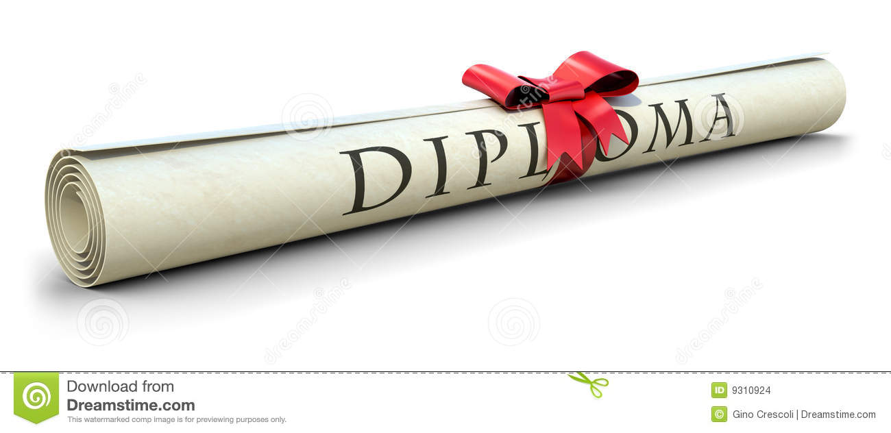 Rolled diploma with red ribbon (3d illustration).: www.dreamstime.com/stock-images-diploma-image9310924