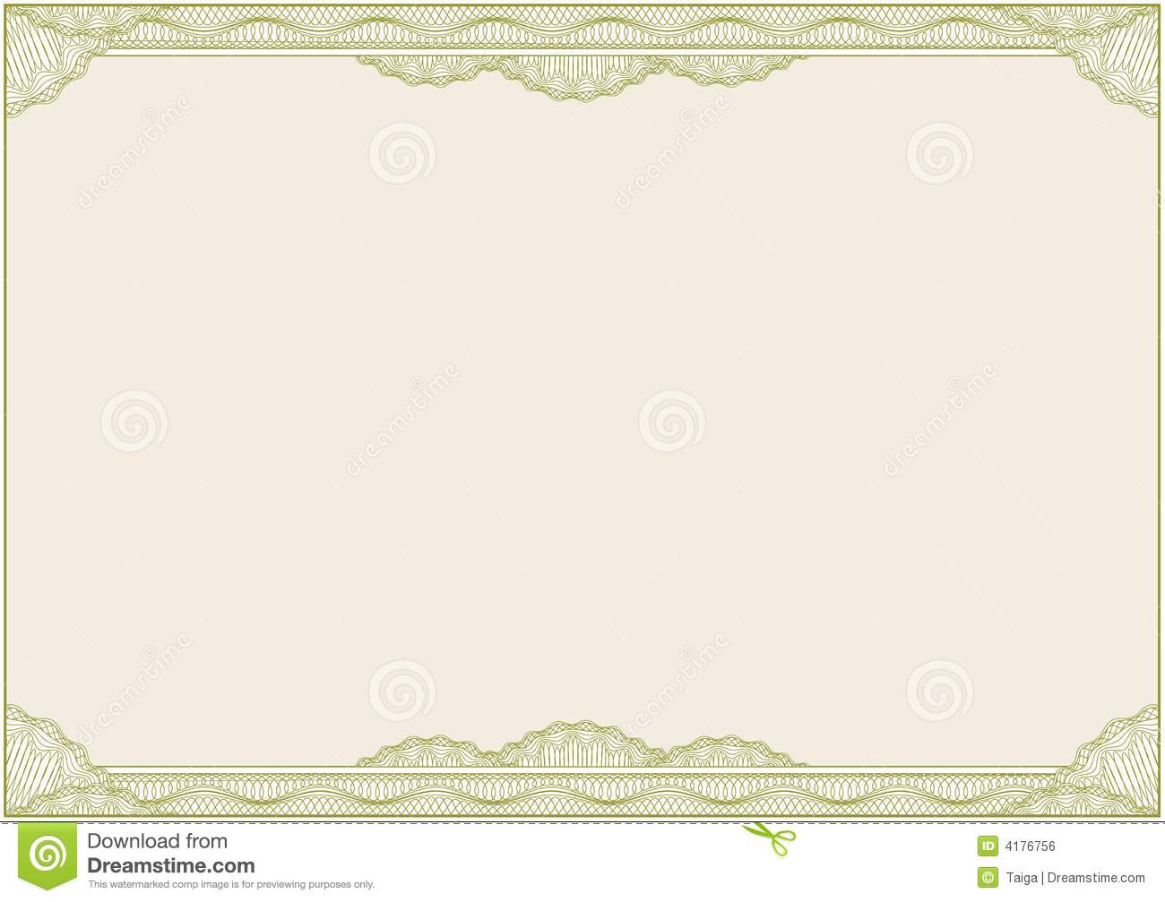 Diploma Or Certificate Border A4 Vector Royalty Free – Certificate Borders Free Download