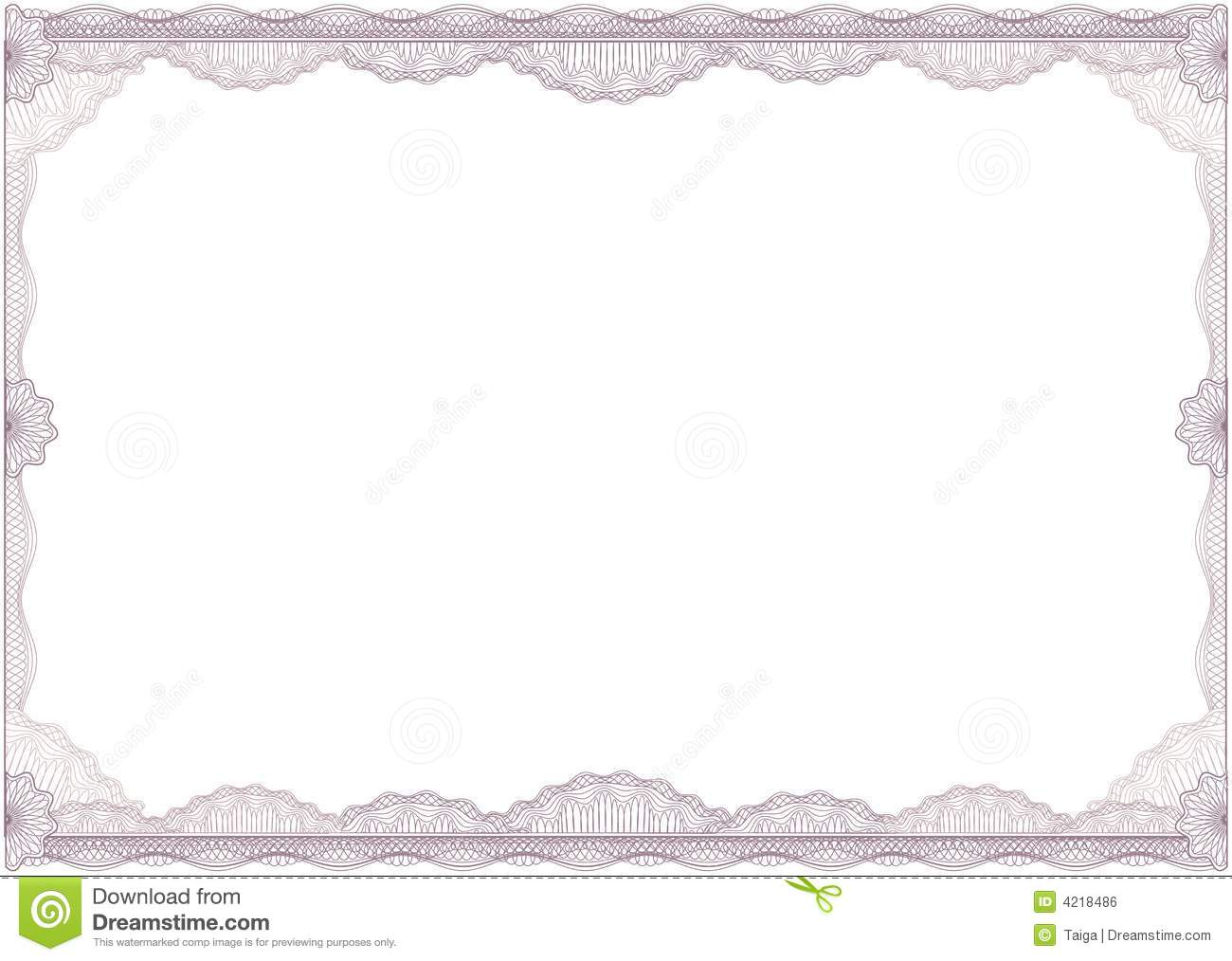 Diploma Or Certificate / Border / A4 / Vector Royalty Free Stock Image ...