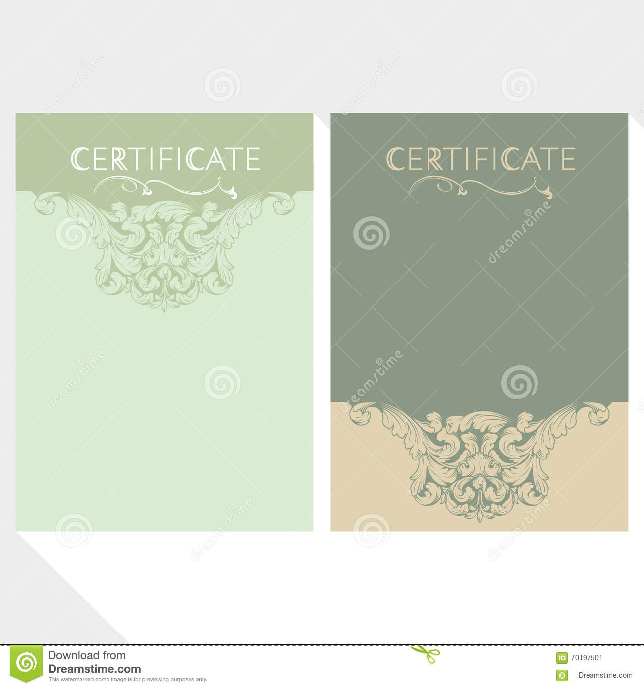 Diploma and Certificate design template
