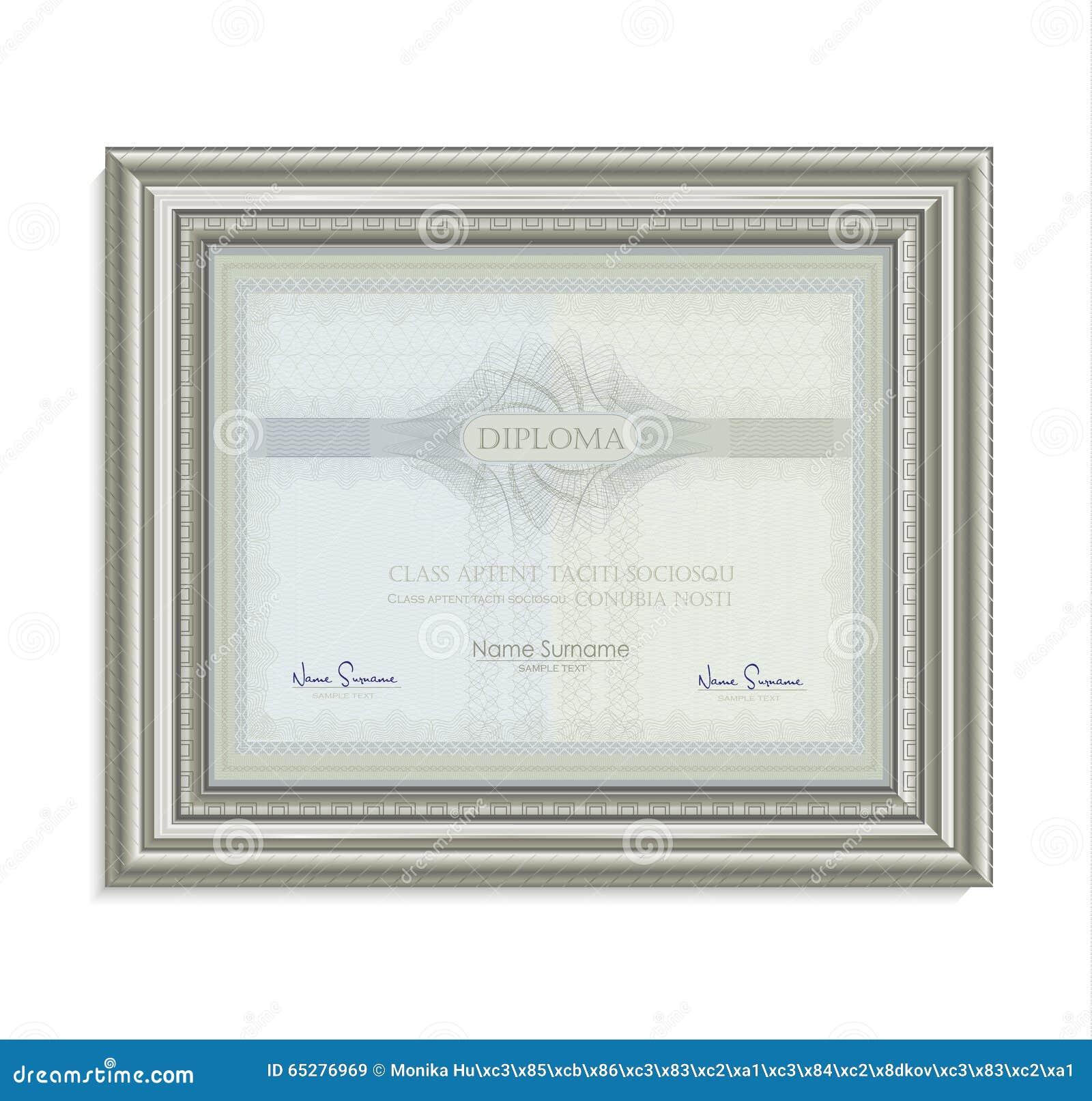 diploma certificate frame image card paper 3d natural horizontal