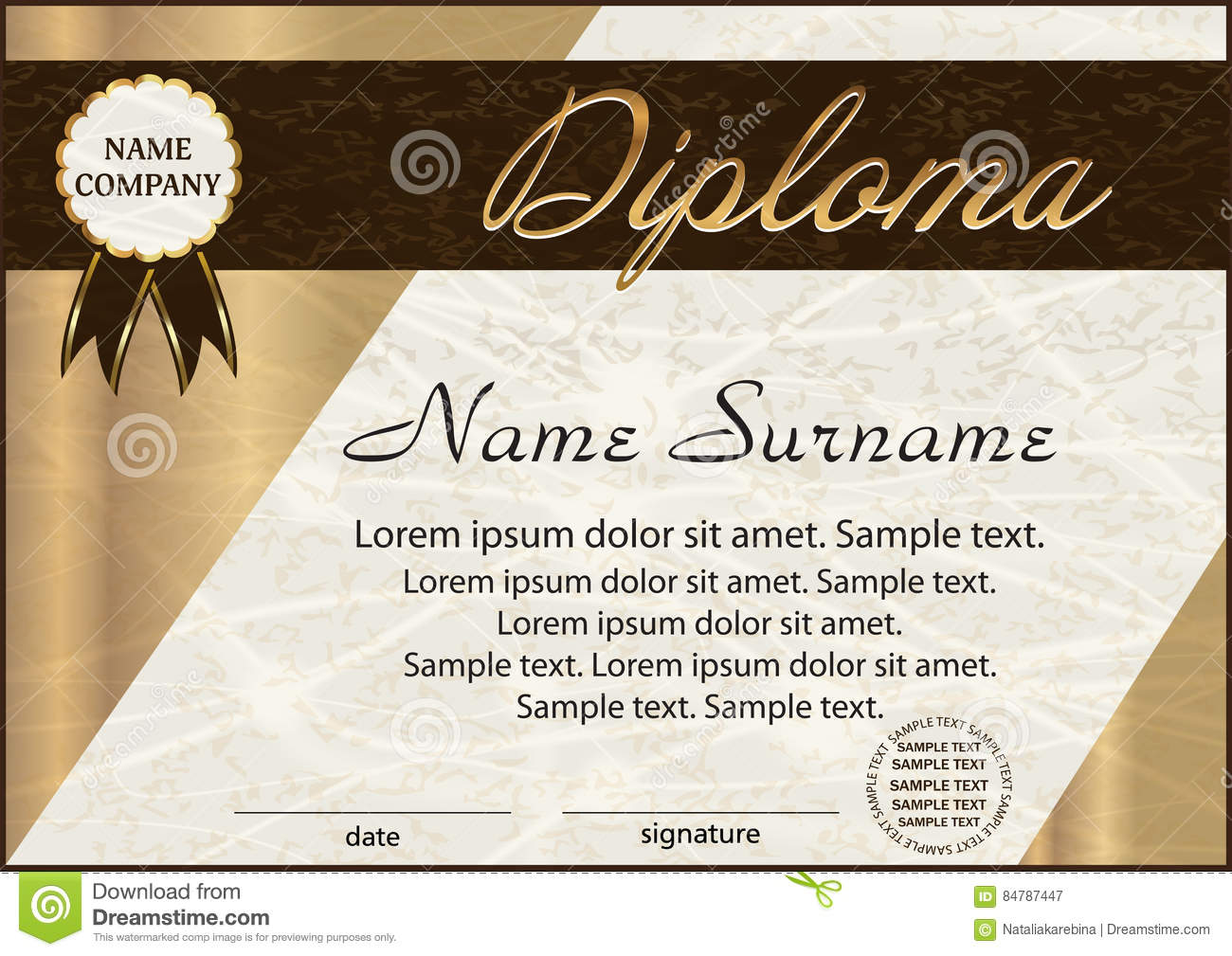 Diploma or certificate template elegant background winning the diploma or certificate template elegant background winning the yelopaper Choice Image