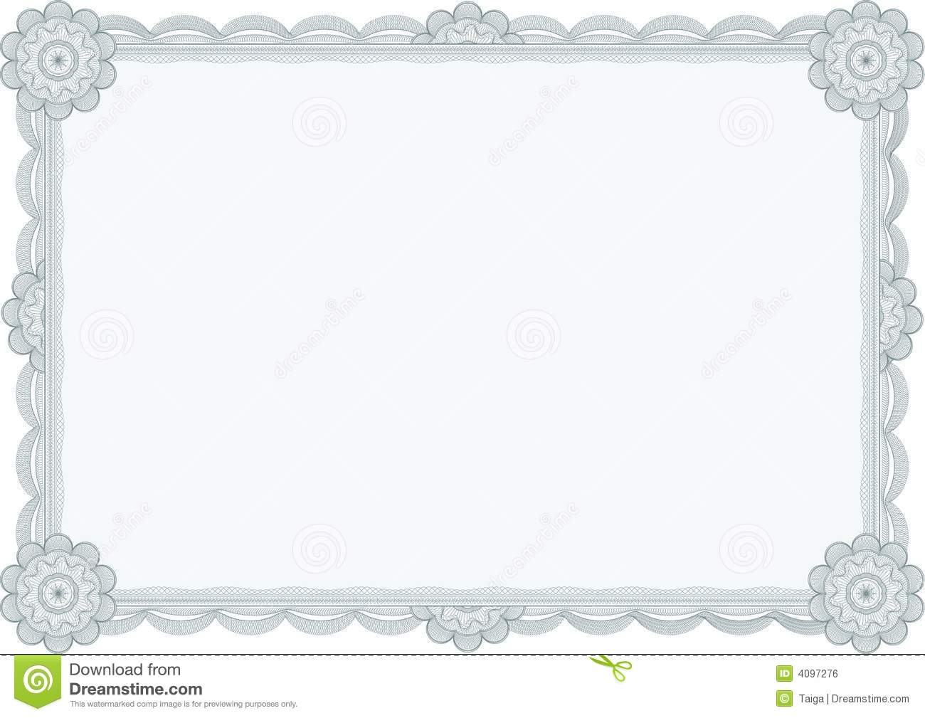 Diploma Or Certificate Vector Royalty Free Stock Image
