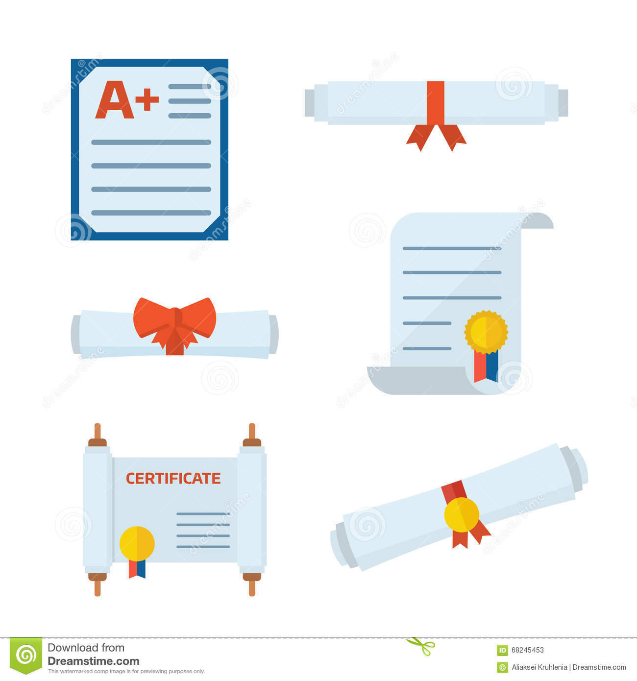 Diploma certificate vector icons stock vector illustration of diploma certificate vector icons 1betcityfo Gallery