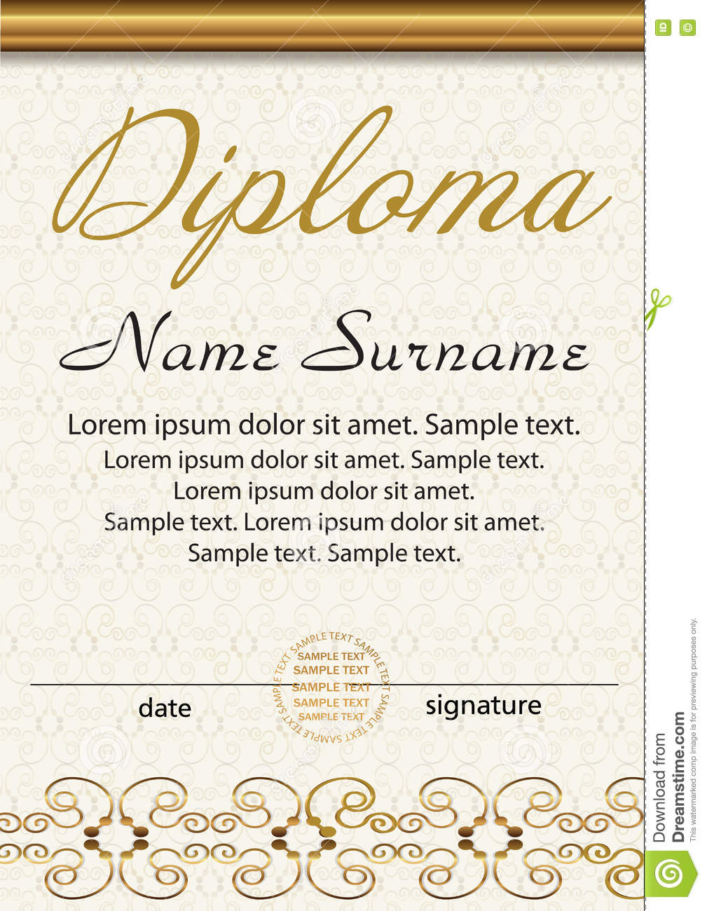 Diploma Or Certificate Vertical Template Award Winner Reward – Certificate Winner
