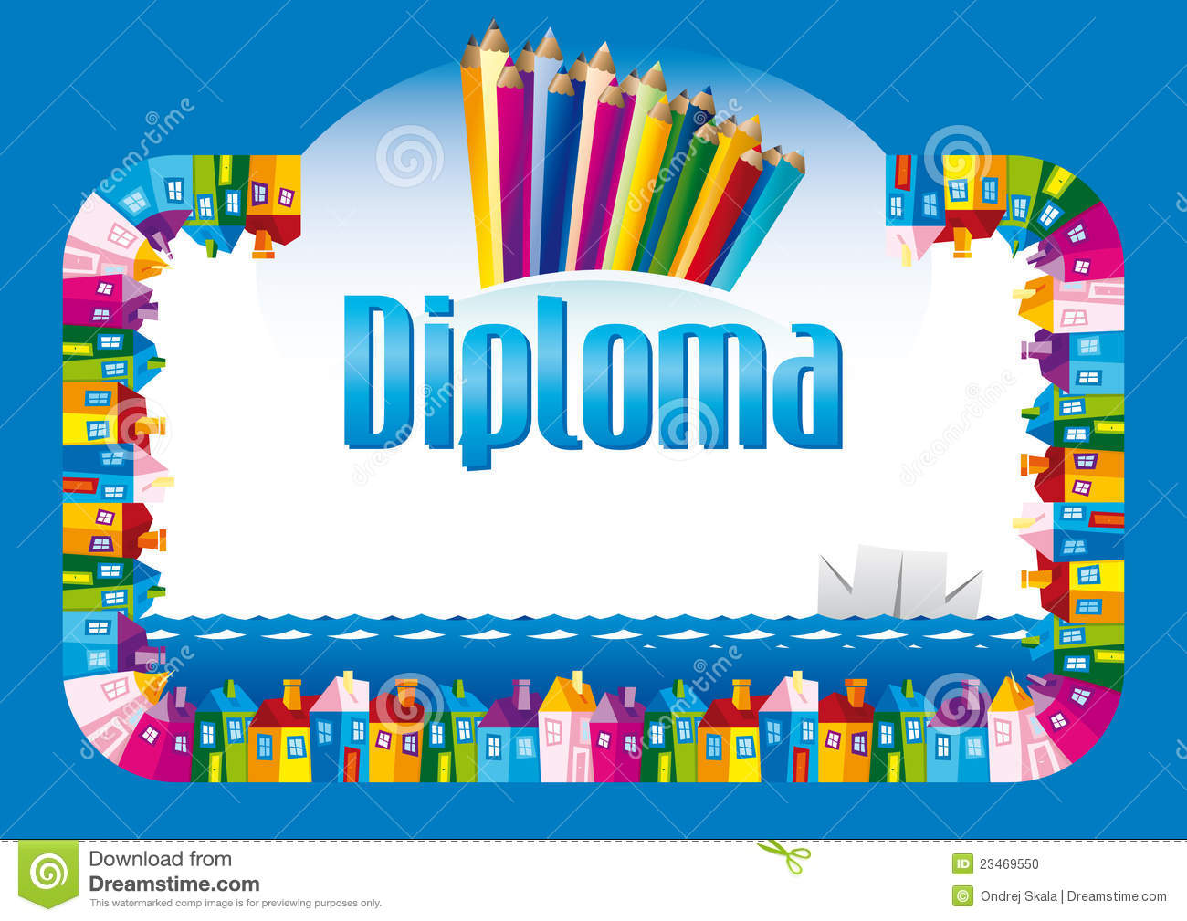 Diploma for children stock photo image 23469550