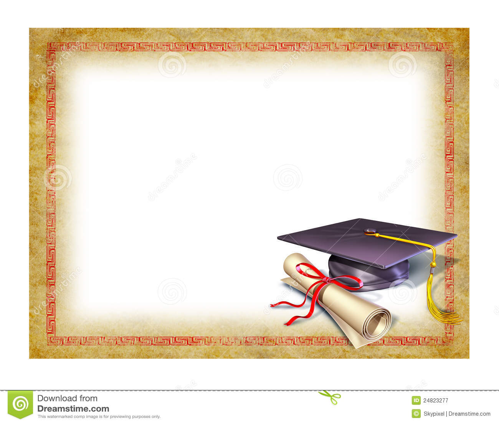 Blank Graduation Diploma