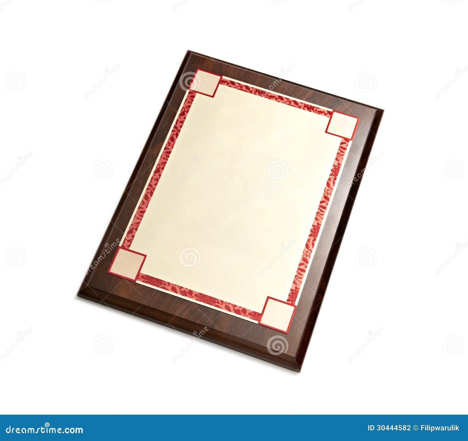 Diploma Frame stock illustration. Illustration of ornate - 30444582