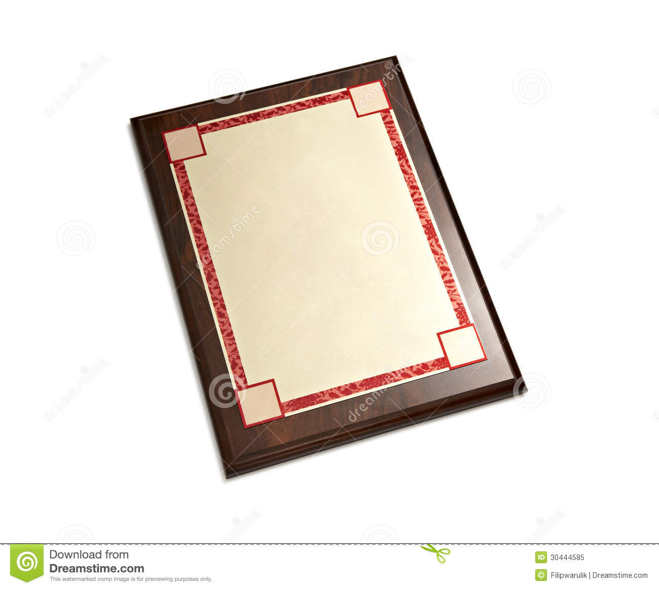 Diploma Frame stock illustration. Illustration of empty - 30444585