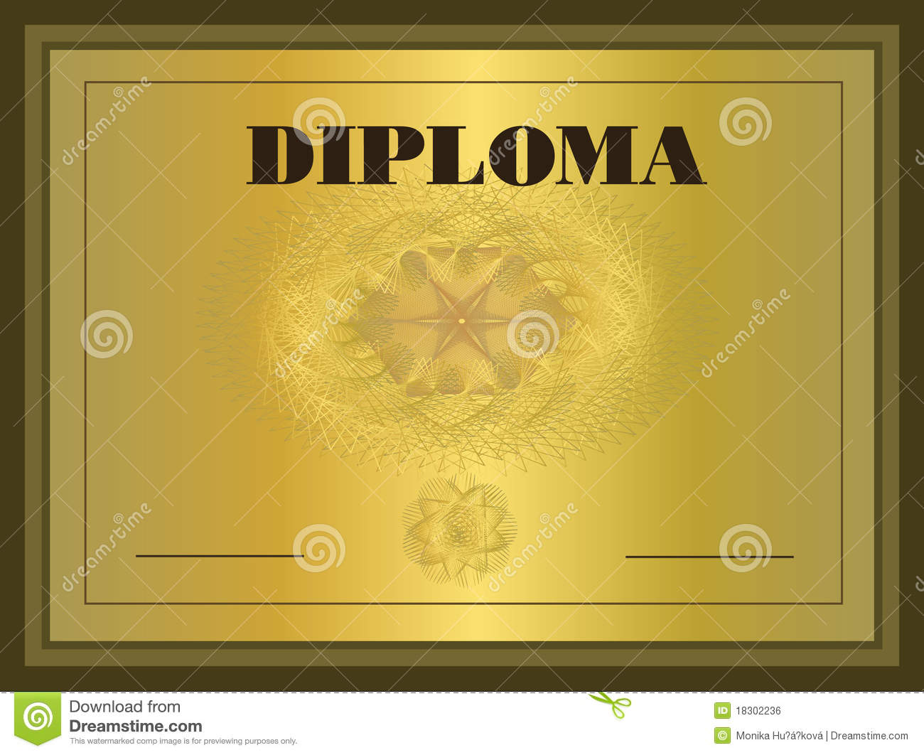 Diploma gold Frame stock vector. Illustration of check ...